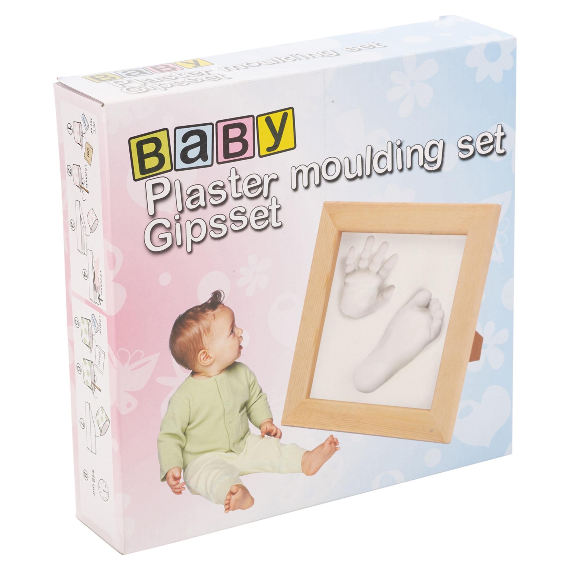 Fonkelnieuw Baby Hand Foot Print Plaster Moulding Set With Wooden Frame Gift FE-38