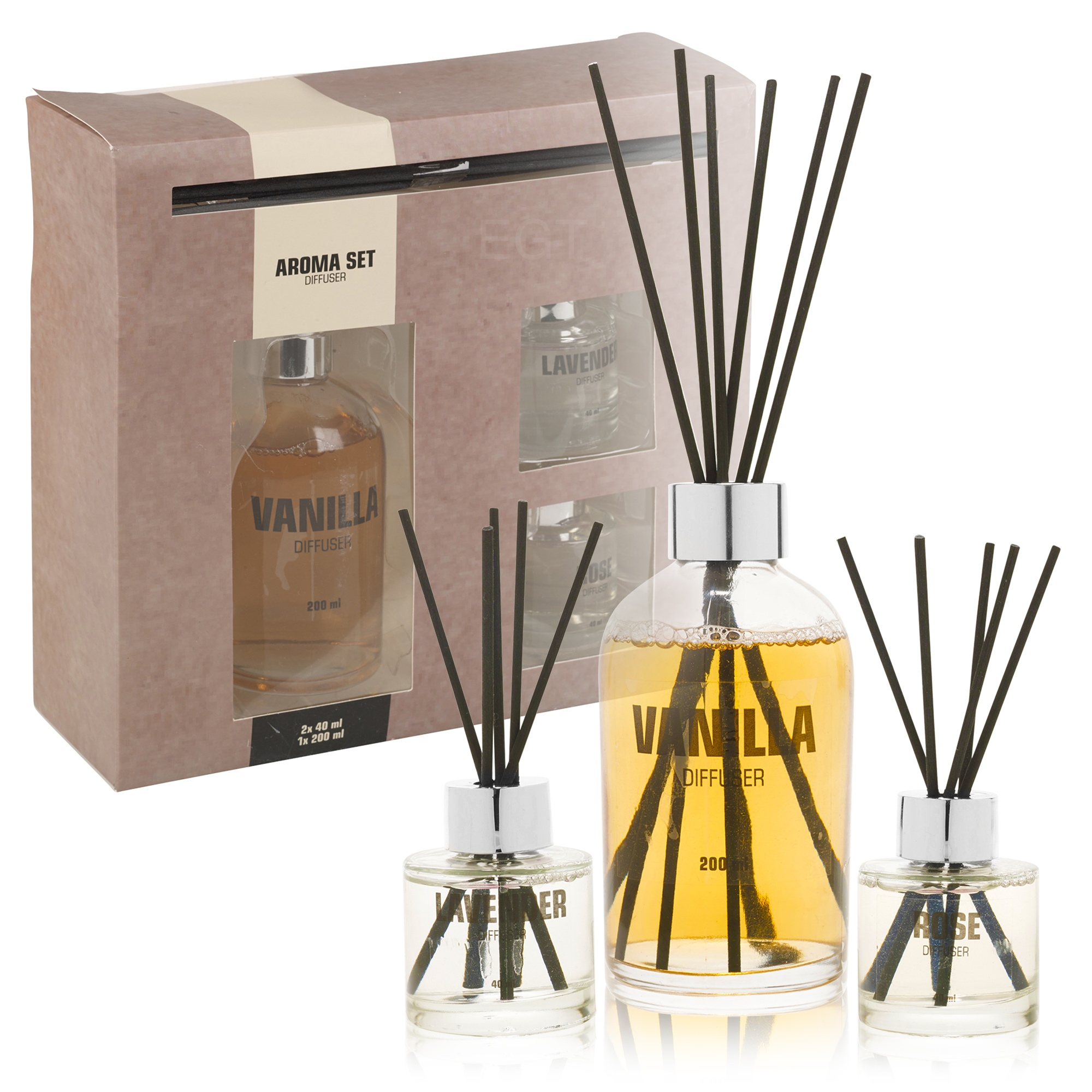 Fragrance Reed Diffuser Aroma Gift Set 3 Scents Fragrant ...