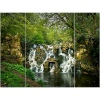 Forest Waterfall Triptych Canvas [128926/pc002892]