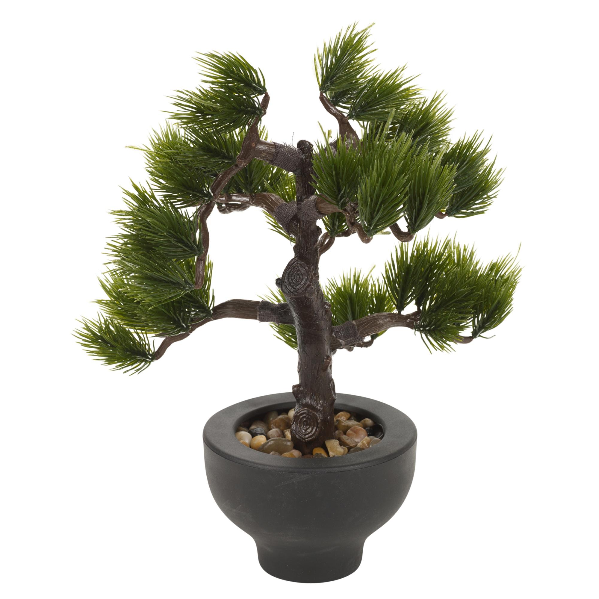 k nstlich b ro schreibtisch 33cm bonsai baum schwarz pflanze topf home tisch ebay. Black Bedroom Furniture Sets. Home Design Ideas
