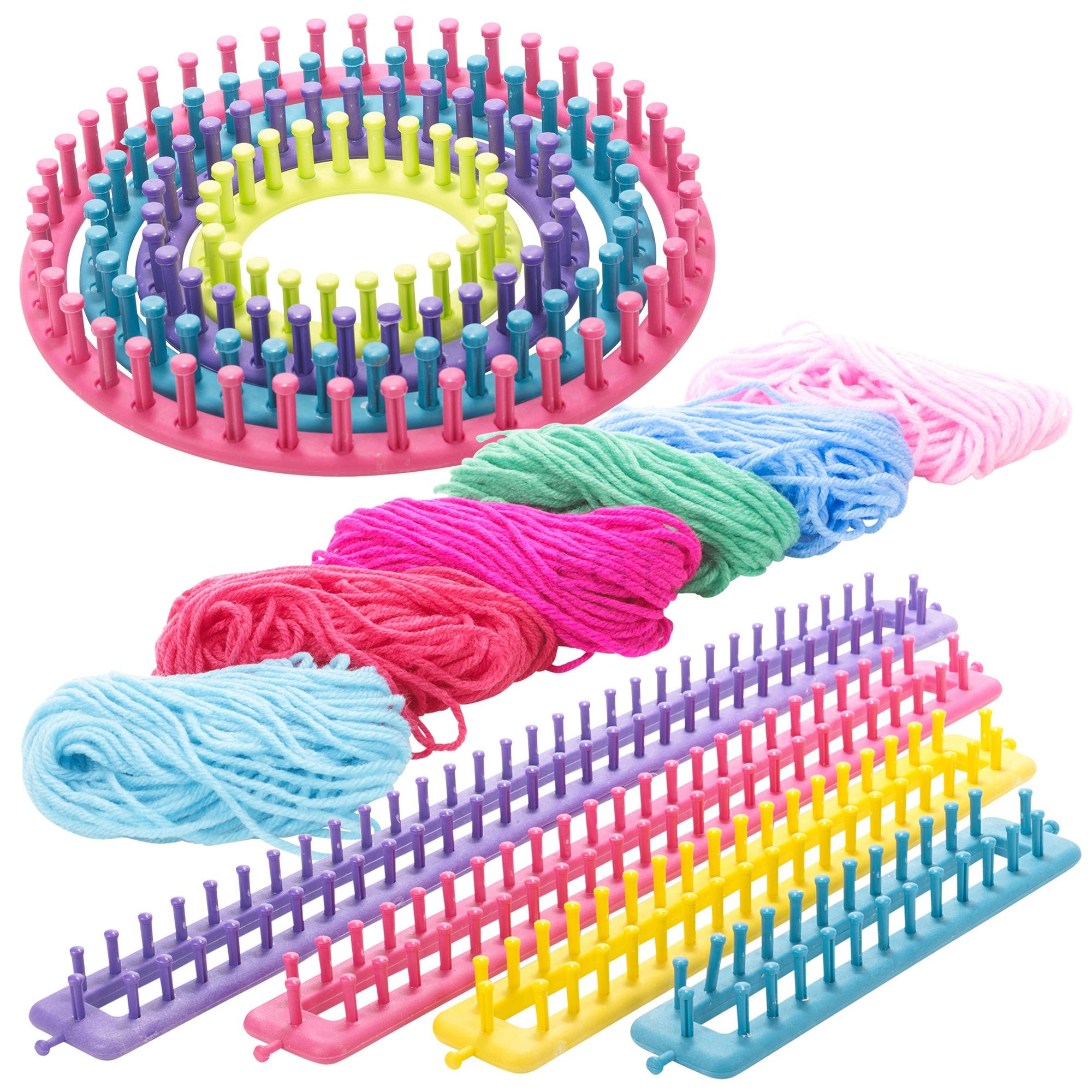 Knitting Supplies Uk : Knitting wool oblong round set craft kit sock scarf hat