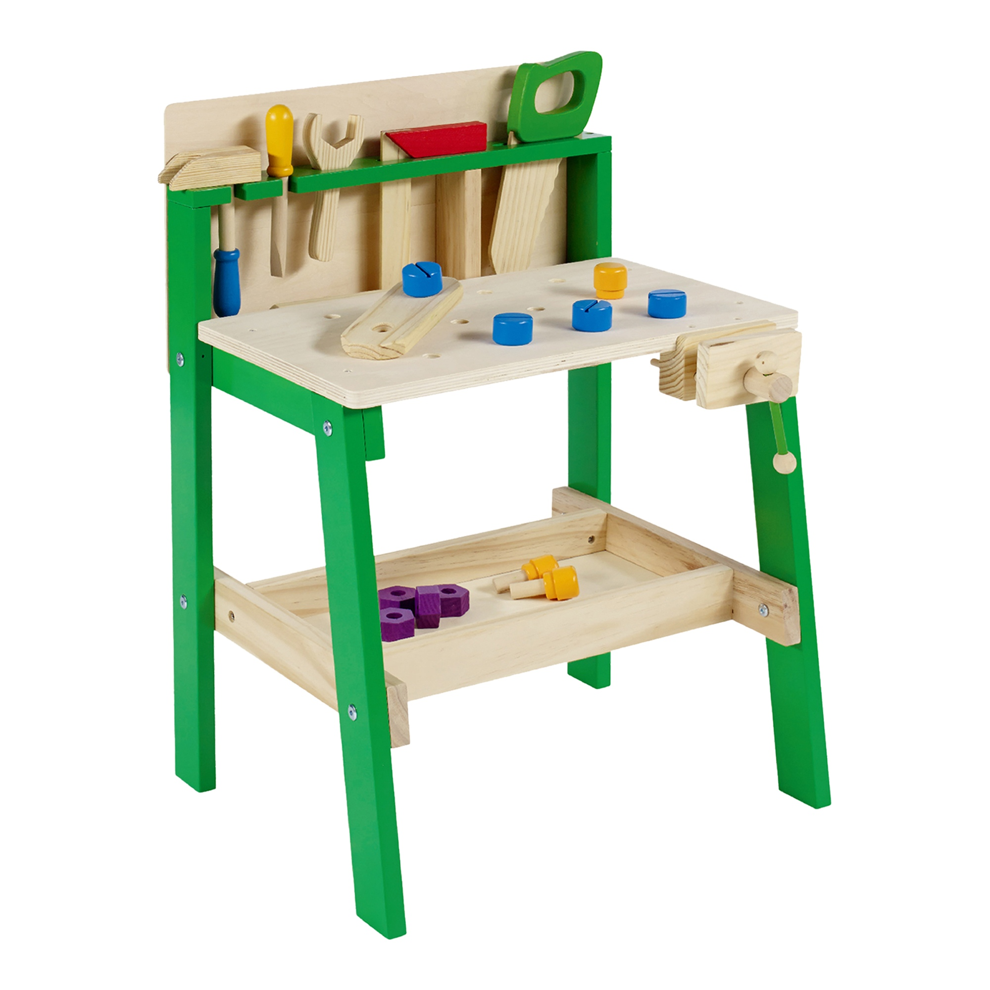 Kids Tool Work Bench Wooden Diy Table Work Creative Role Play Pretend Activity Ebay