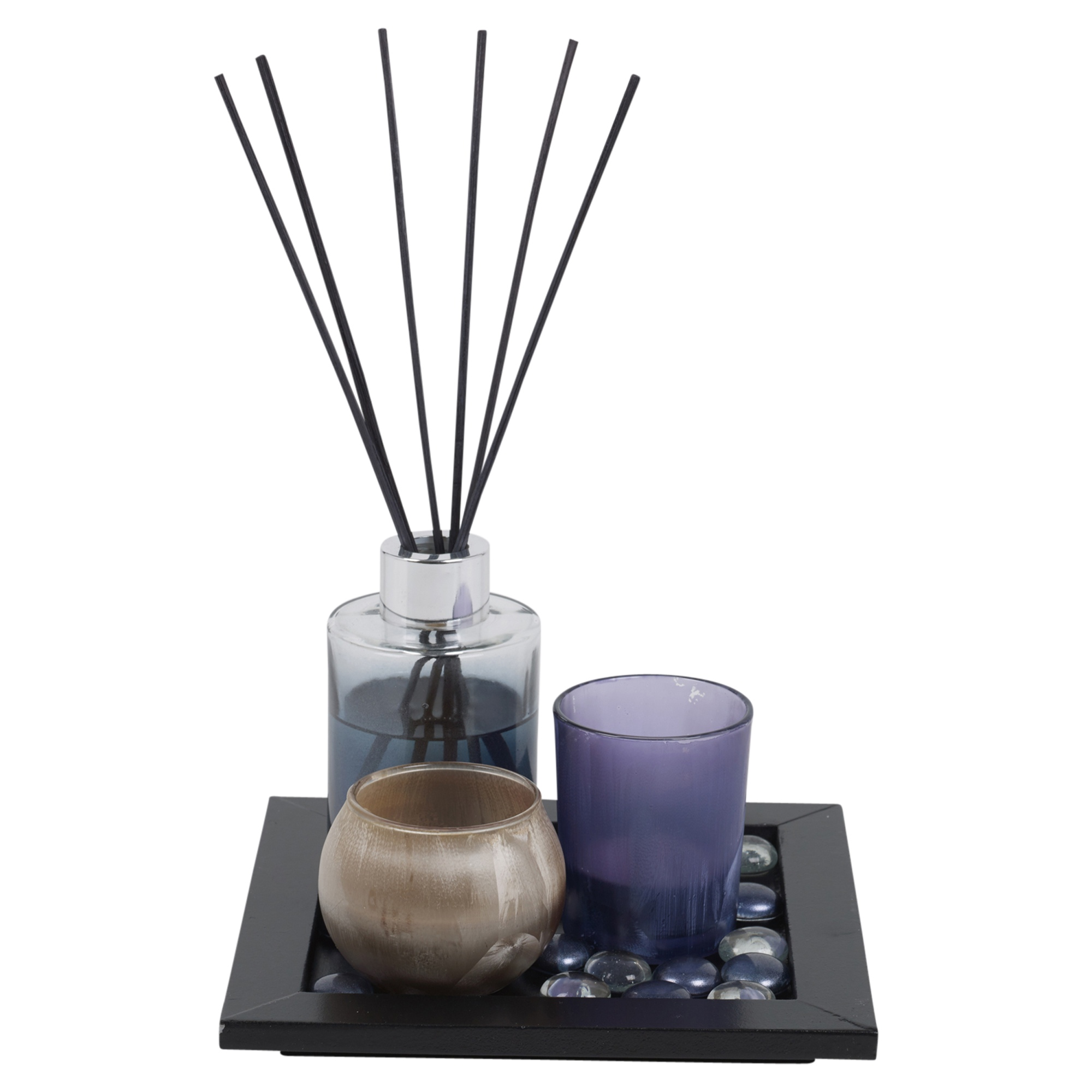 #5E4C3F Perfume Reed Diffuser & Scented Tealight Candle Tray Aroma  Most Effective 1175 Aromatherapy Diffuser Set pictures with 2000x2000 px on helpvideos.info - Air Conditioners, Air Coolers and more