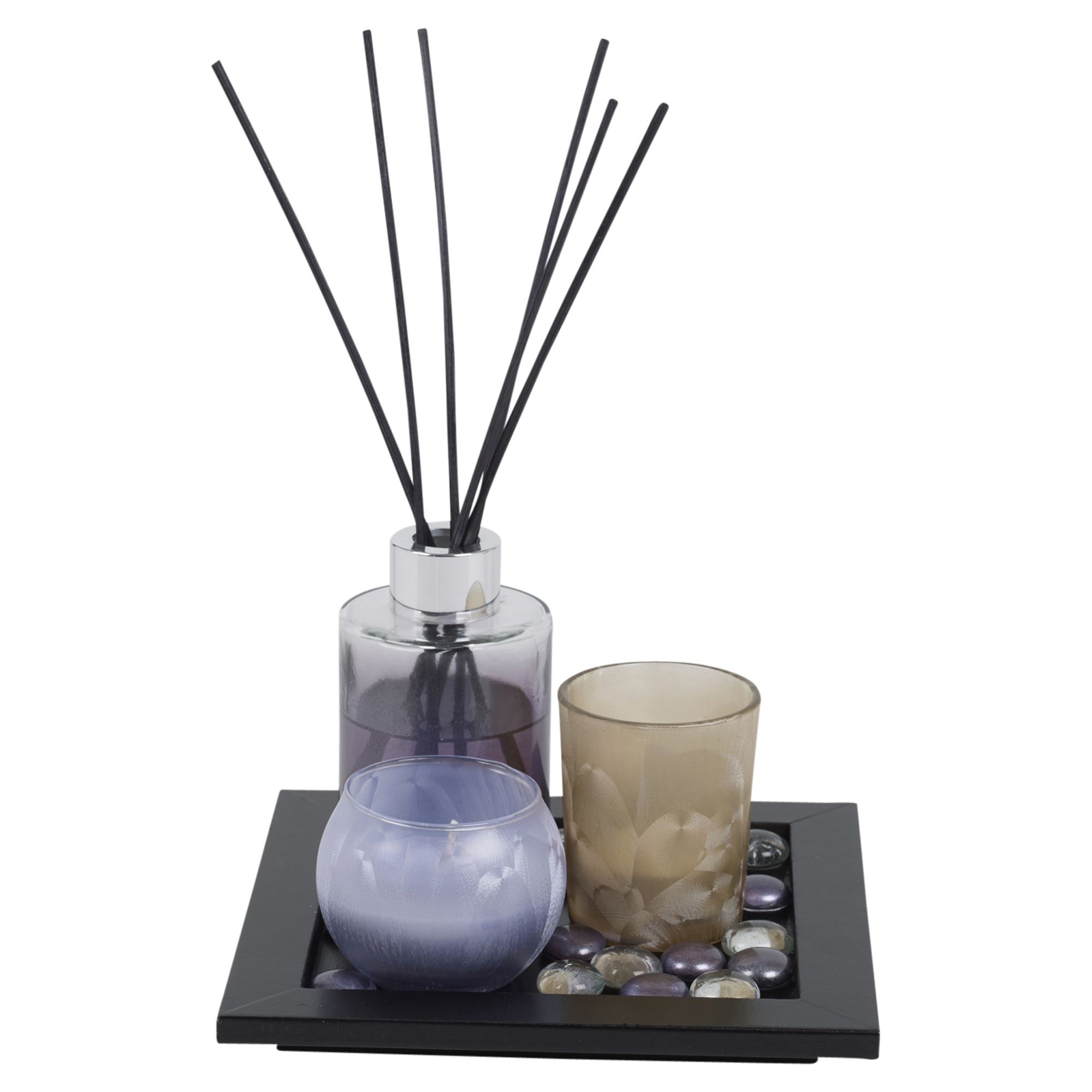 #6E5F4D Perfume Reed Diffuser & Scented Tealight Candle Tray Aroma  Most Effective 1175 Aromatherapy Diffuser Set pictures with 2000x2000 px on helpvideos.info - Air Conditioners, Air Coolers and more