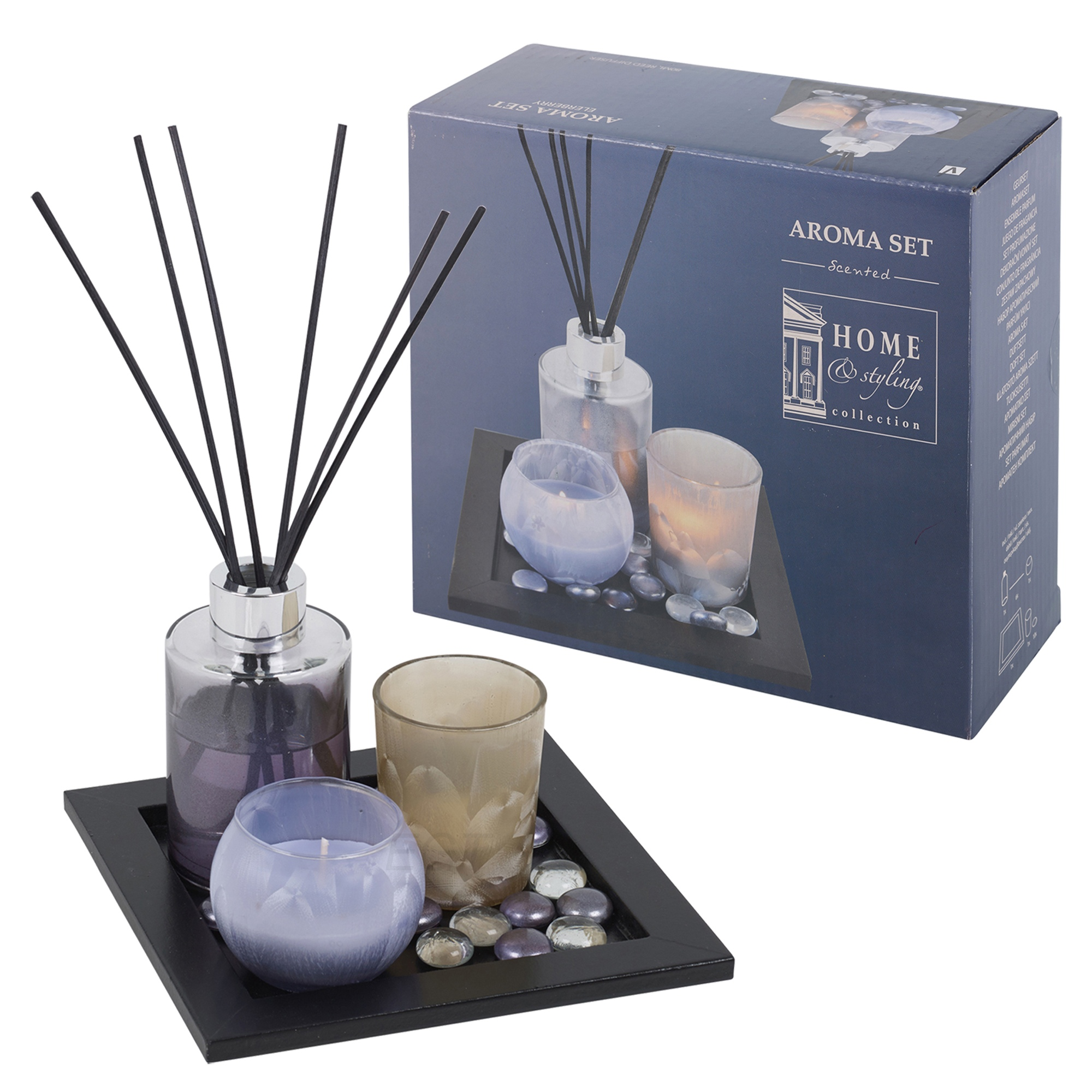 #7C684F Perfume Reed Diffuser & Scented Tealight Candle Tray Aroma  Most Effective 1175 Aromatherapy Diffuser Set pictures with 2000x2000 px on helpvideos.info - Air Conditioners, Air Coolers and more