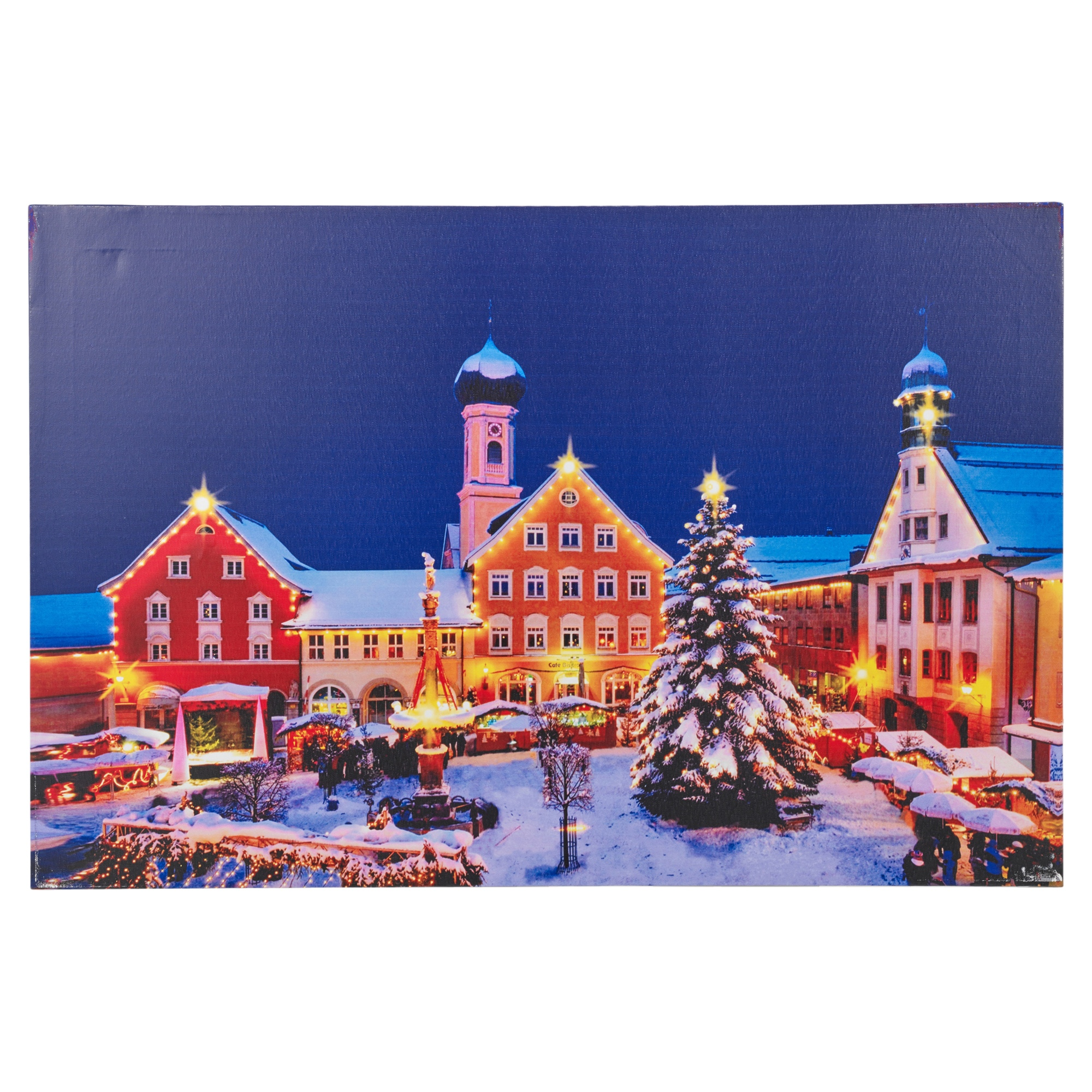 Liamaria Christmas Tree Wall Decoration : Large christmas light up led canvas prints wall decoration