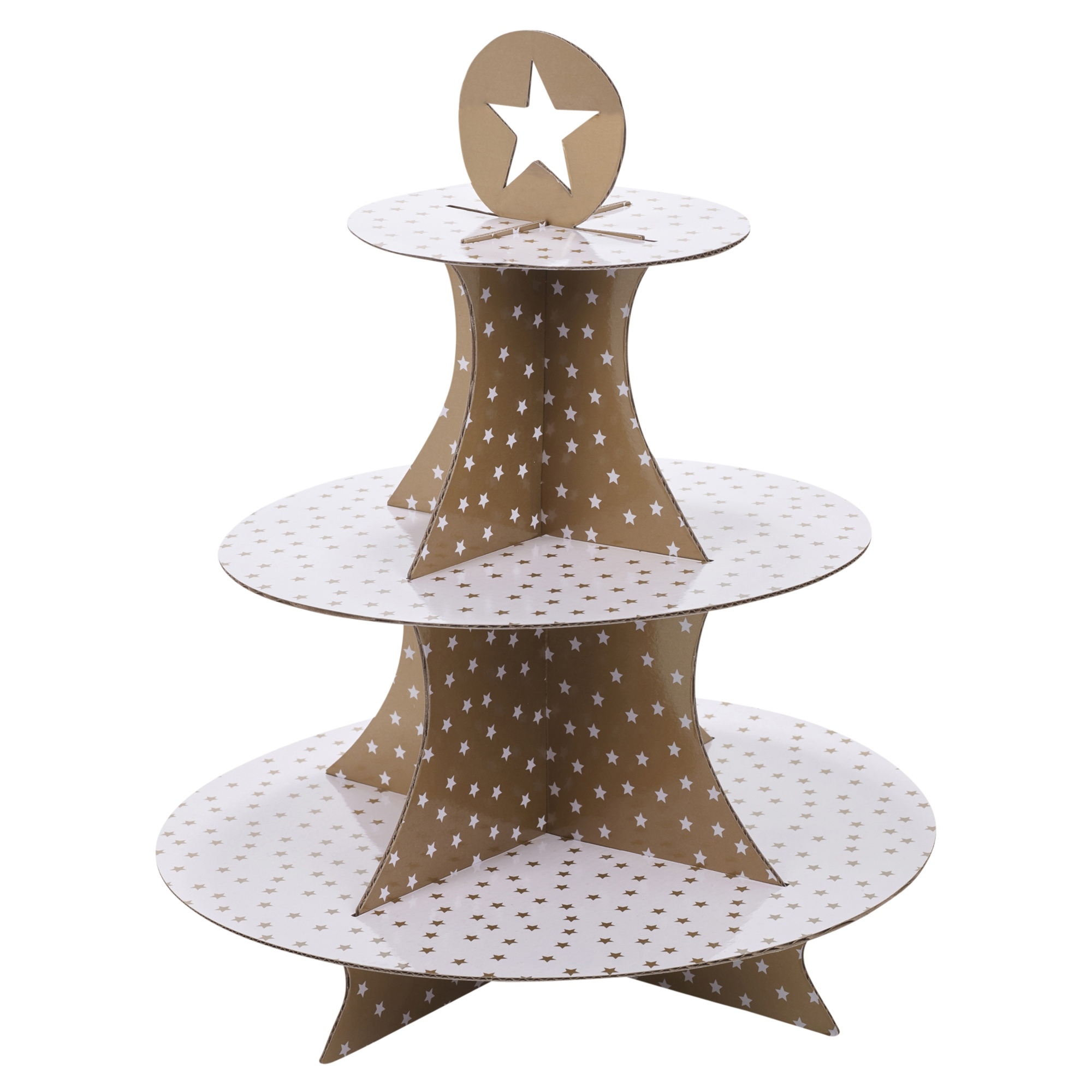 3 tier cardboard christmas cake stand cupcakes decorations for Canape display stands