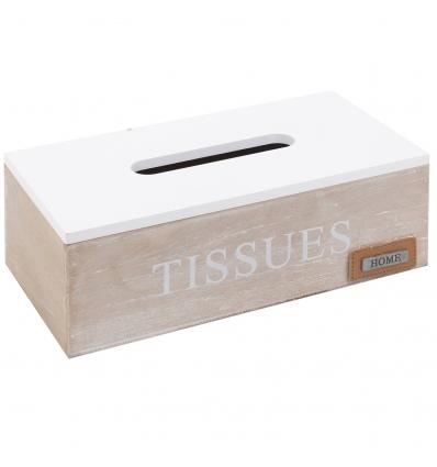 Whitewashed Wooden Tissue Box [021912]
