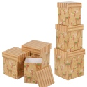 Nest of 3 reindeer tall gift boxes [444361]