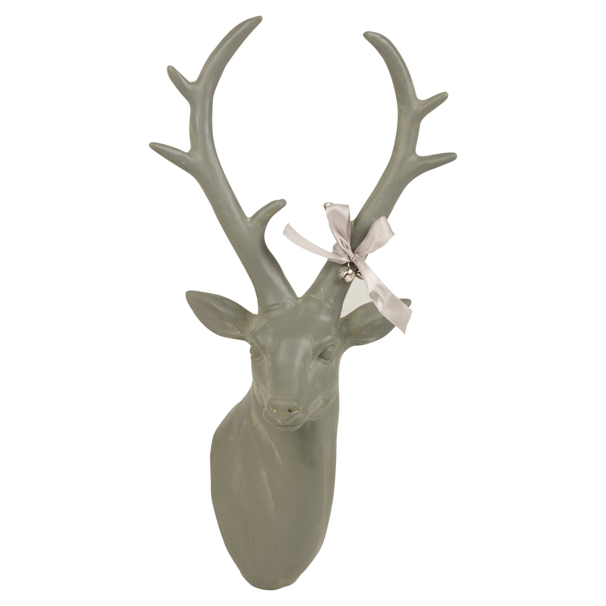 Wall Mounted Reindeer Head Decoration Stag Ornament Deer Antler Trophy  Christmas | EBay