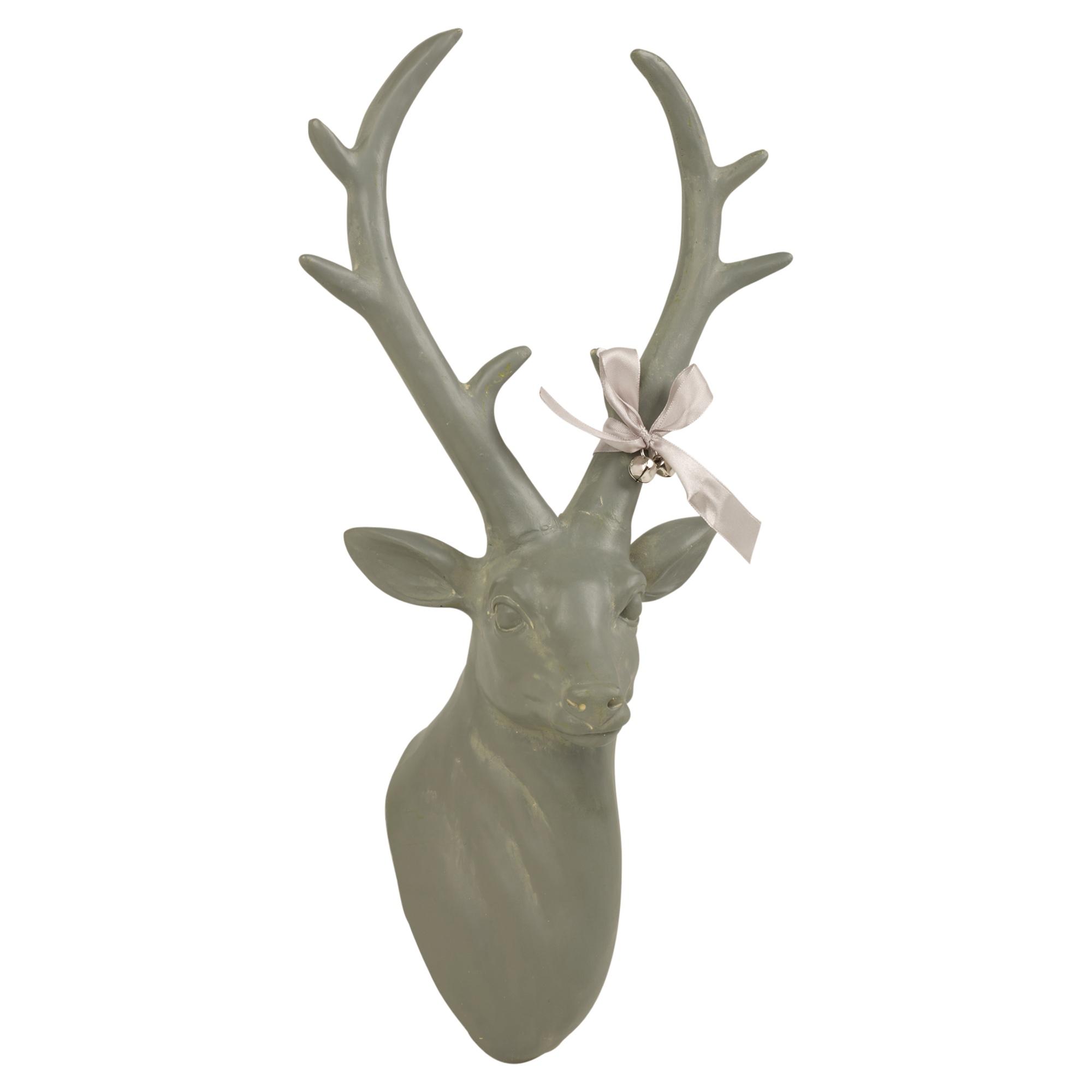 Wall Mounted Reindeer Head Decoration Stag Ornament Deer Antler ...
