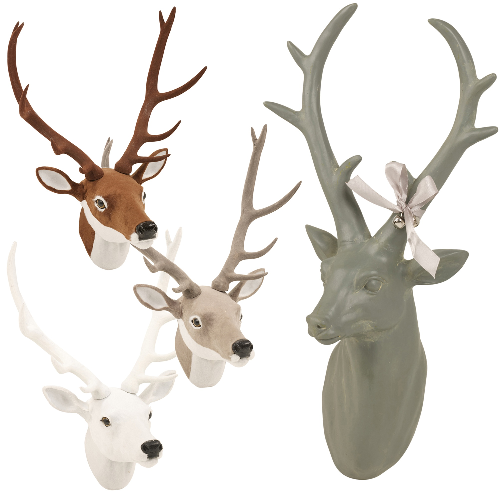 Wall Mounted Reindeer Head Decoration Stag Ornament Deer