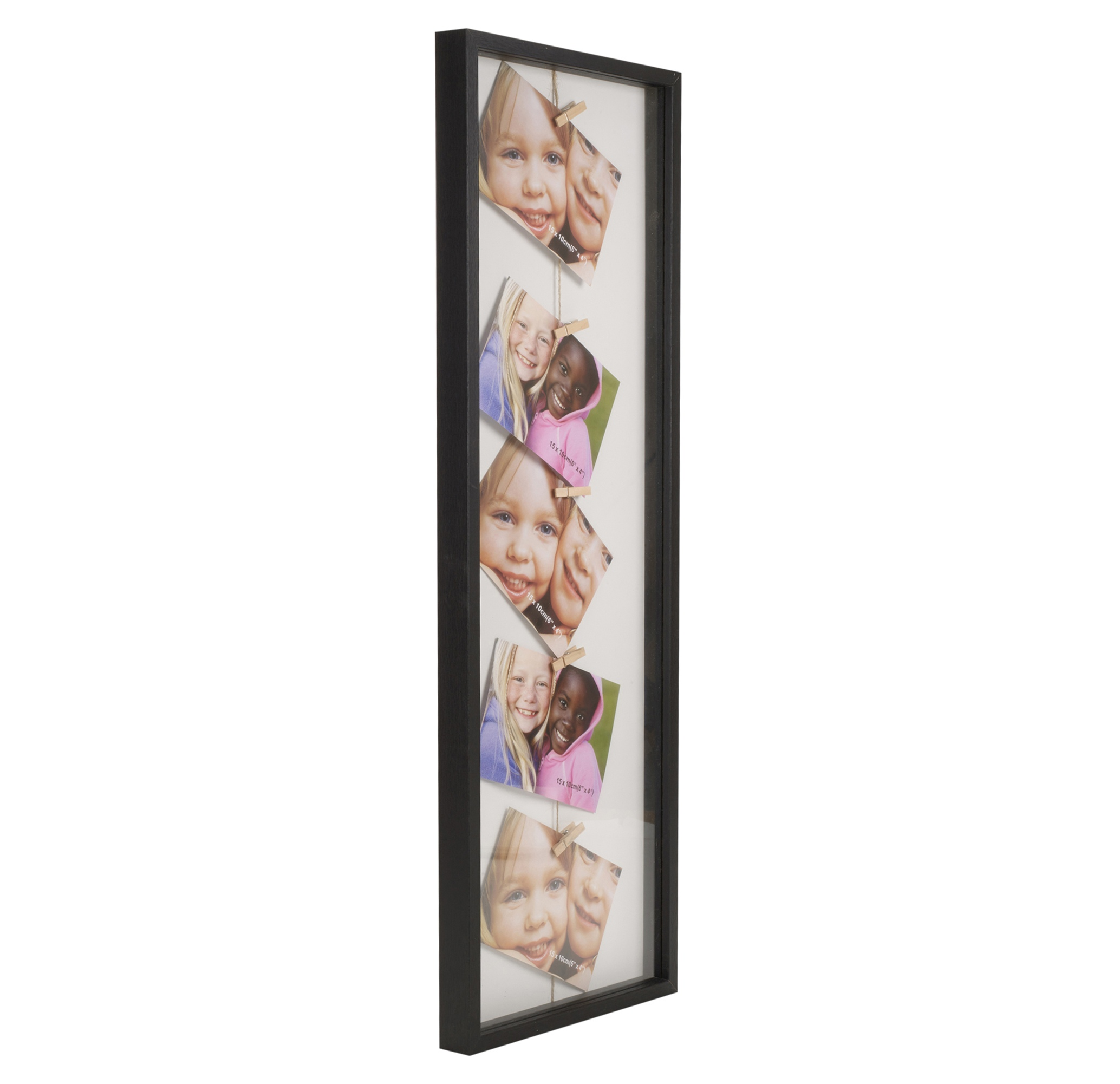 Clip line multi picture photo frame art hang display wall for Photo clip wall frame