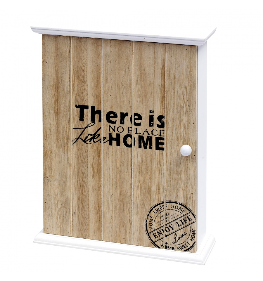 Marvelous There Is No Place Like Home Wooden Key Cabinet [907574]