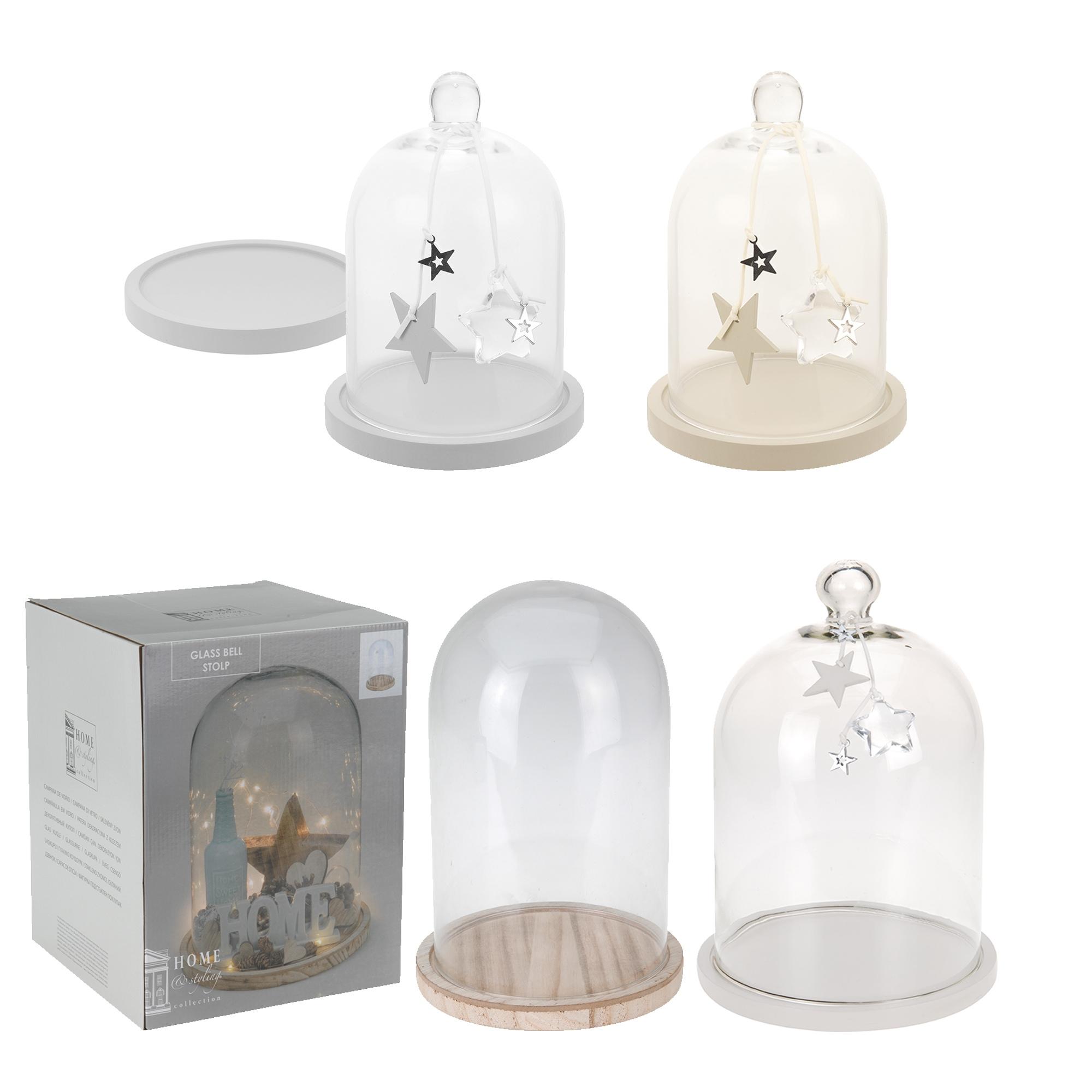 Glass display dome cloche with base decorative office desk for Cloche verre decorative
