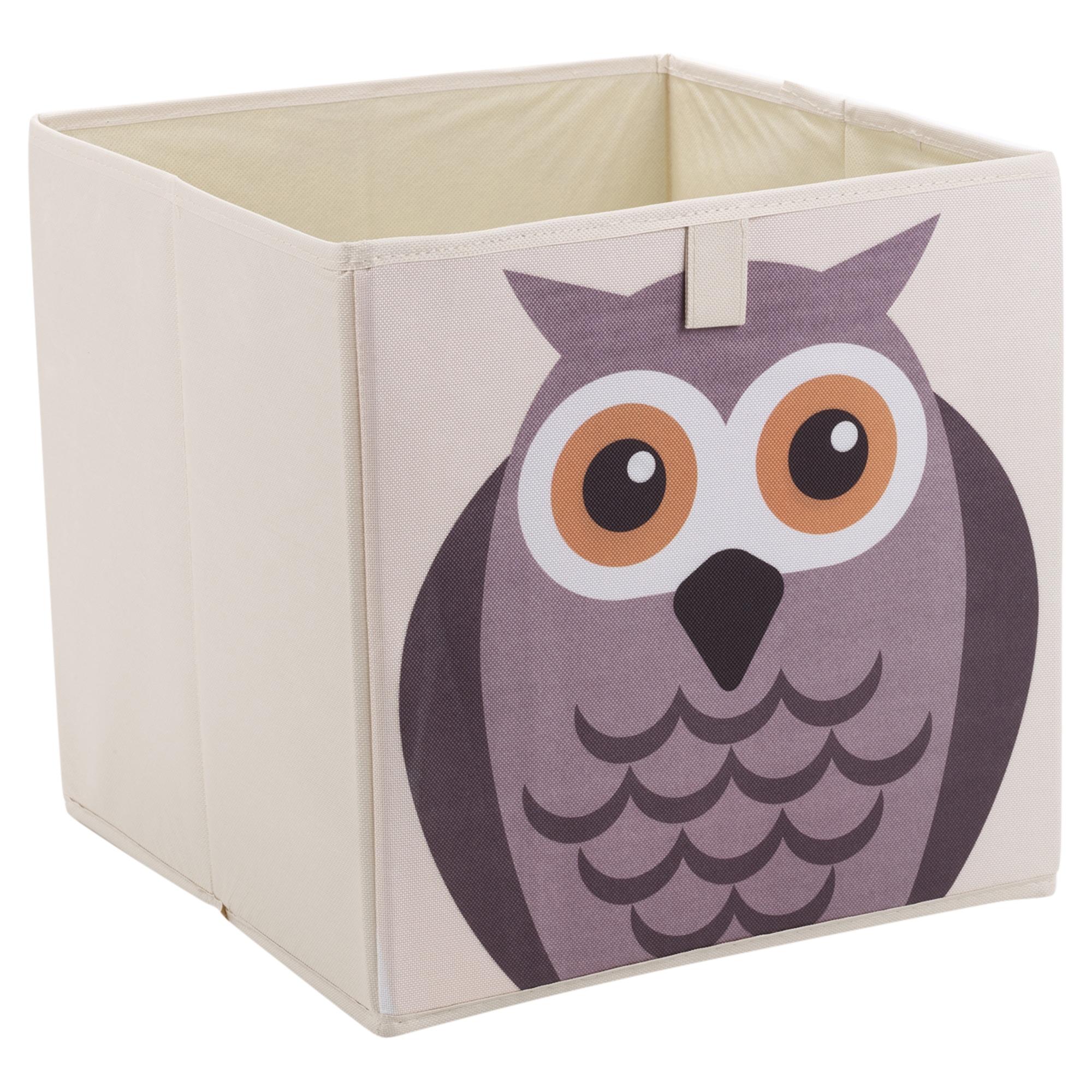 Square Collapsible Canvas Storage Box Foldable Kids Toys: Kids Toy Animal Storage Box Collapsible Non Woven Fabric