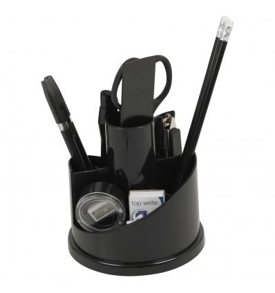 Top Write Black Desk Round Organizer 15x15x14cm [158280]