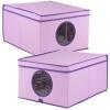 Ordinett PEVA Purple Storage Boxes