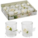 Scented Wedding Candle In Glass With Deco Flower (box of 12) [535203]