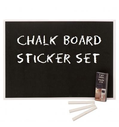 6pc Sticker Blackboard & Chalk [298481]