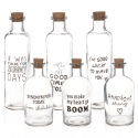 Cork Lid Glass Bottles With Text