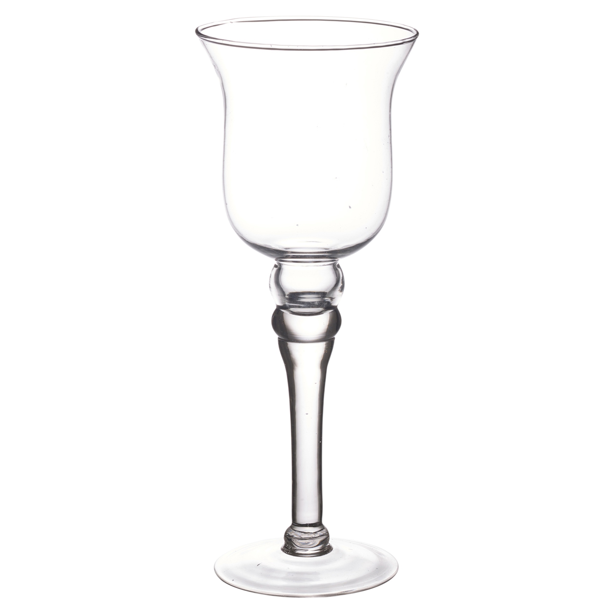 Set of tall glass large candle holders centerpiece tea
