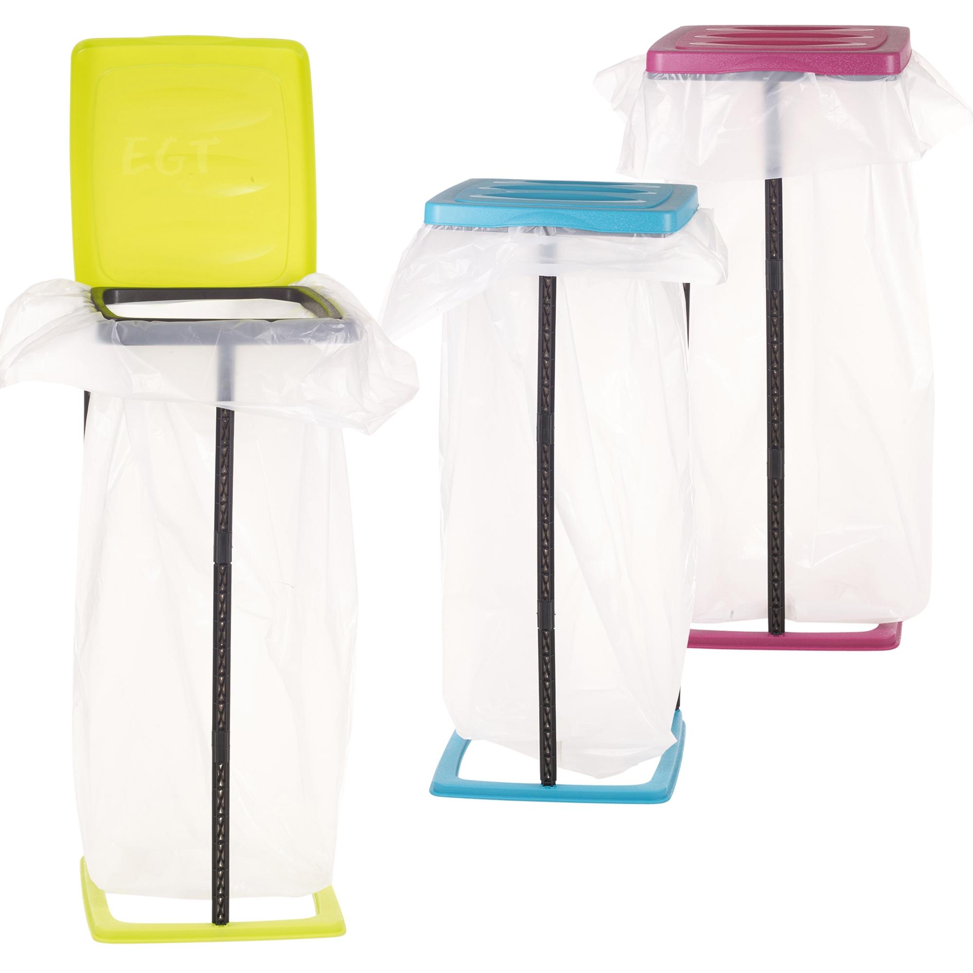 60l collapsible bin bag stand plastic garbage waste rubbish refuse sack holder ebay - Collapsible trash bins ...