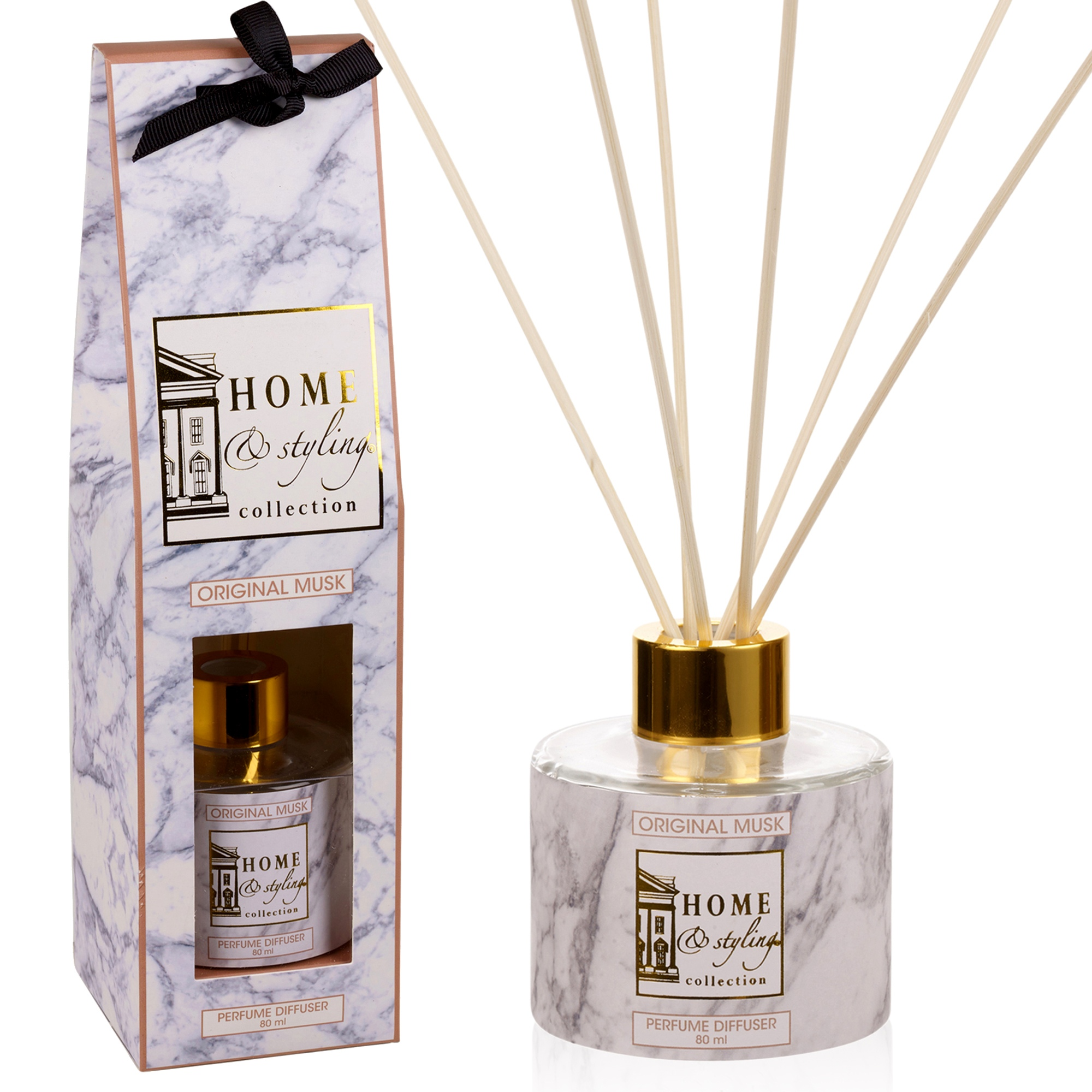 80ml Reed Diffuser Luxury Gift Set Glass Bottle Scent Air