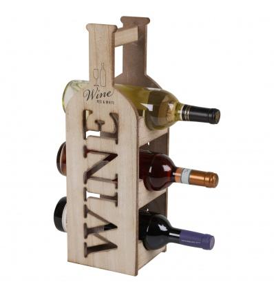 Wooden Wine Rack For 3 Bottles [848131]