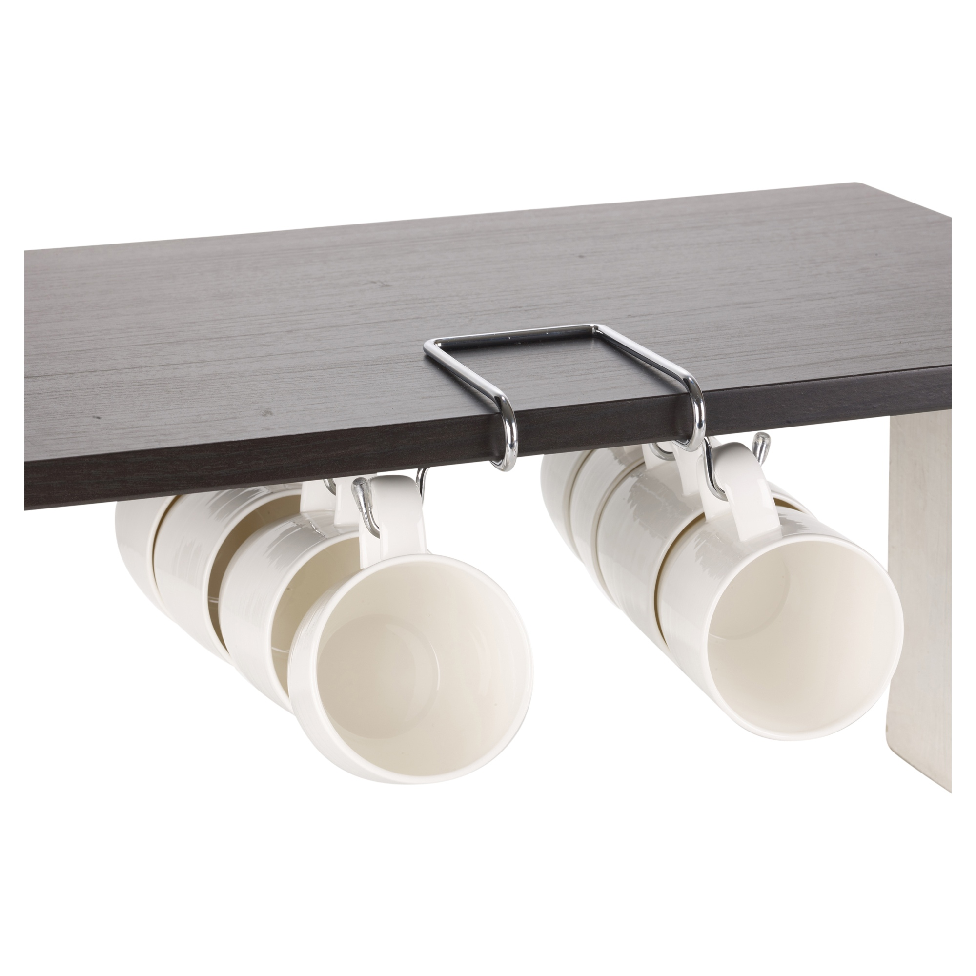 8 hook silver chrome mug rack cup holder under shelf shelf & cabinet sliding drawer organizer shelf & cabinet sliding drawer organizer