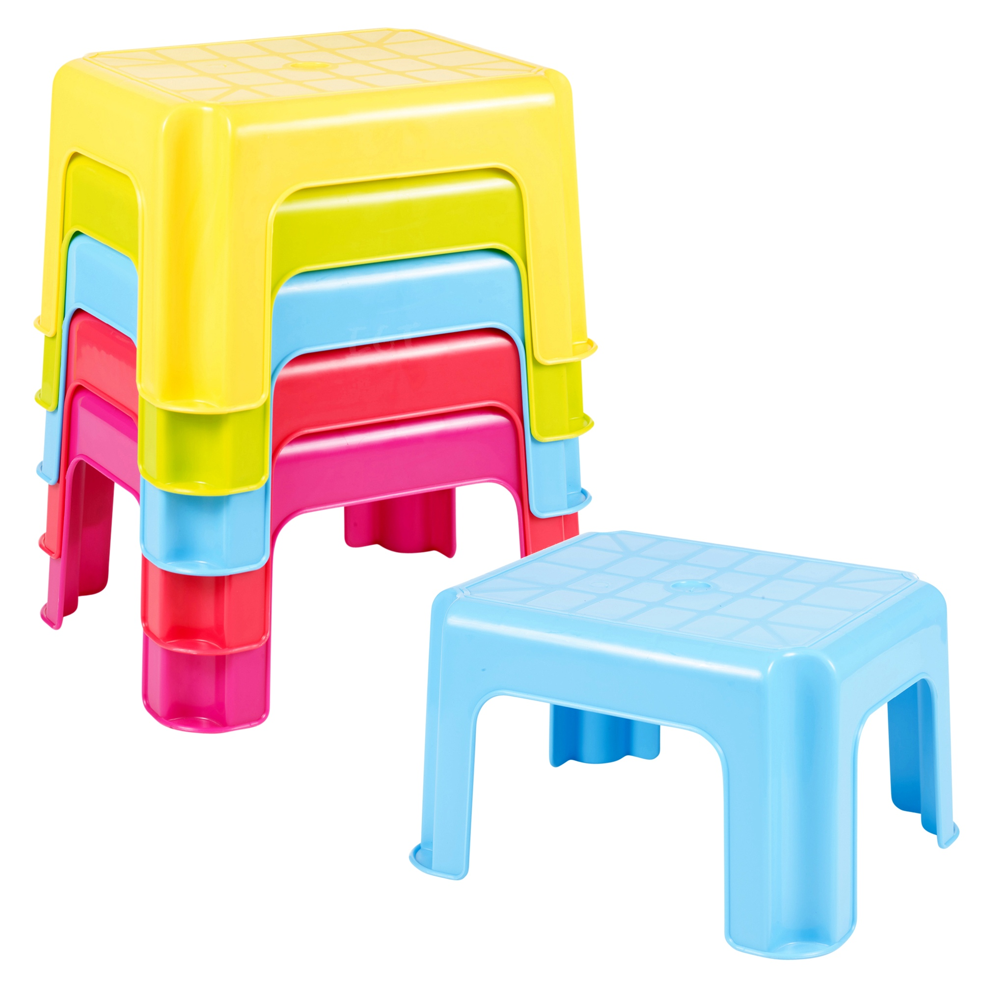 mehrzweck robuster kunststoff tritthocker stapelbar kinder sitz rutschfest fu ebay. Black Bedroom Furniture Sets. Home Design Ideas