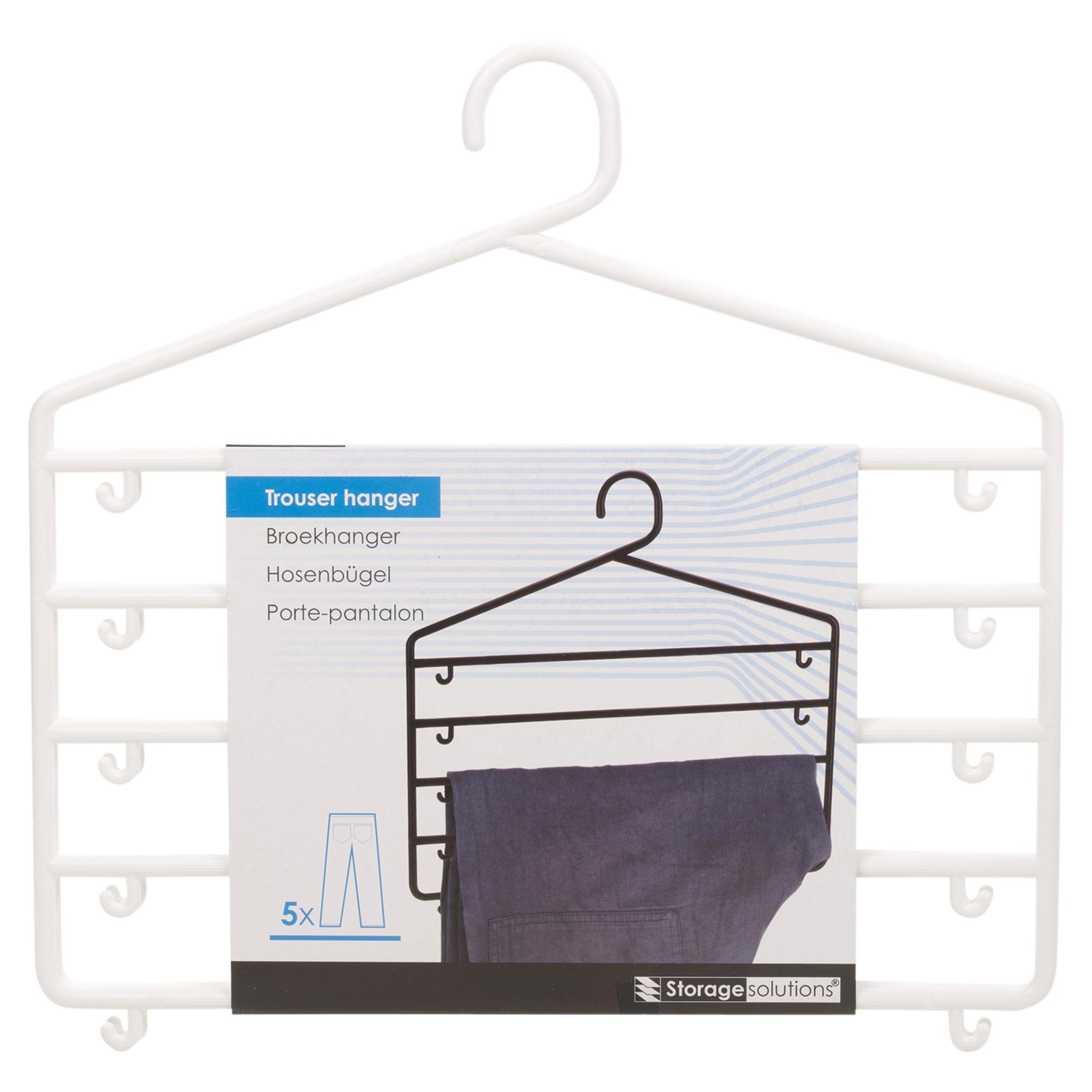 qualit t plastik 5 bar hose aufh nger kleiderschrank ordnen von lager ordentlich ebay. Black Bedroom Furniture Sets. Home Design Ideas