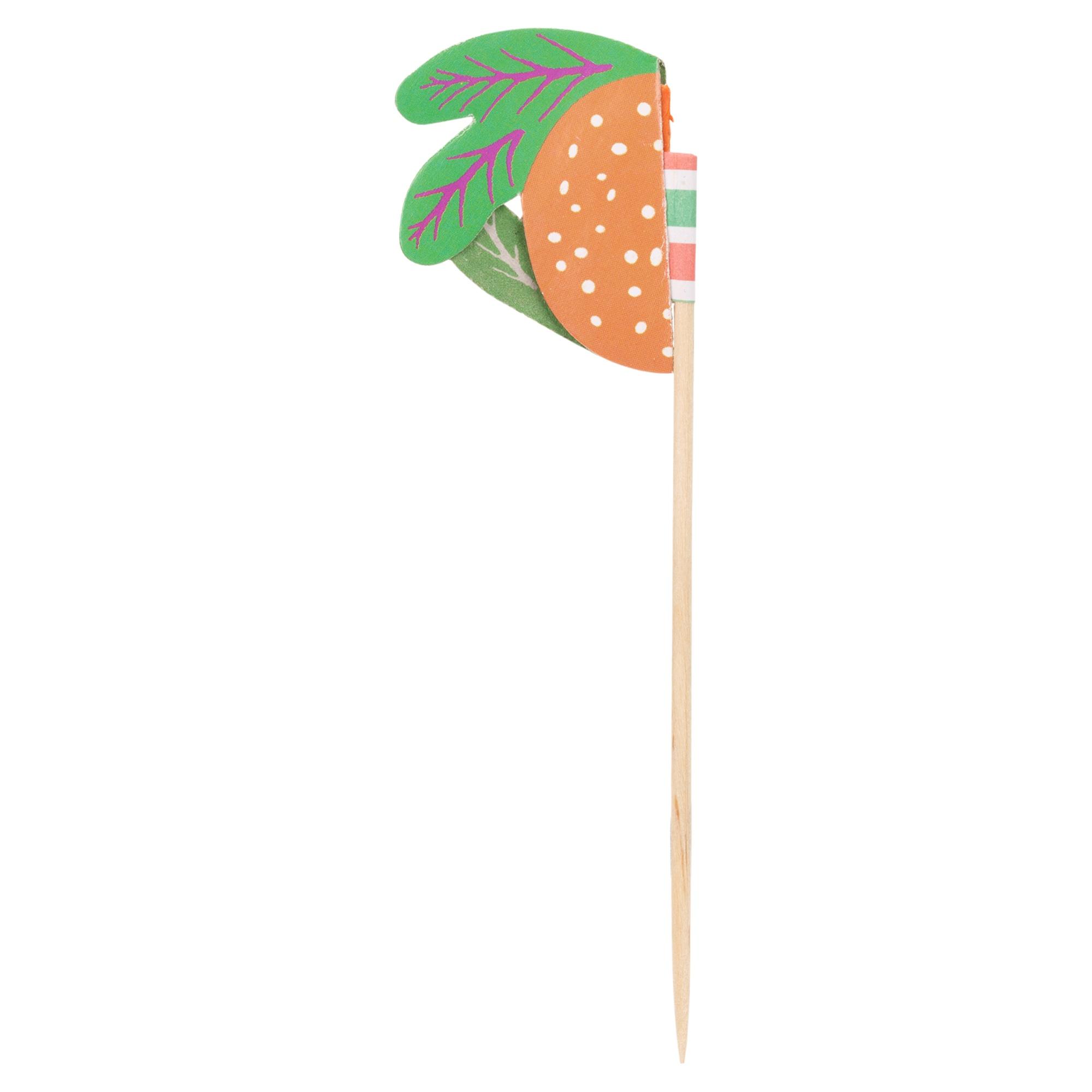 Paper Fruit Cocktail Picks Drinks Snack Skewers Party
