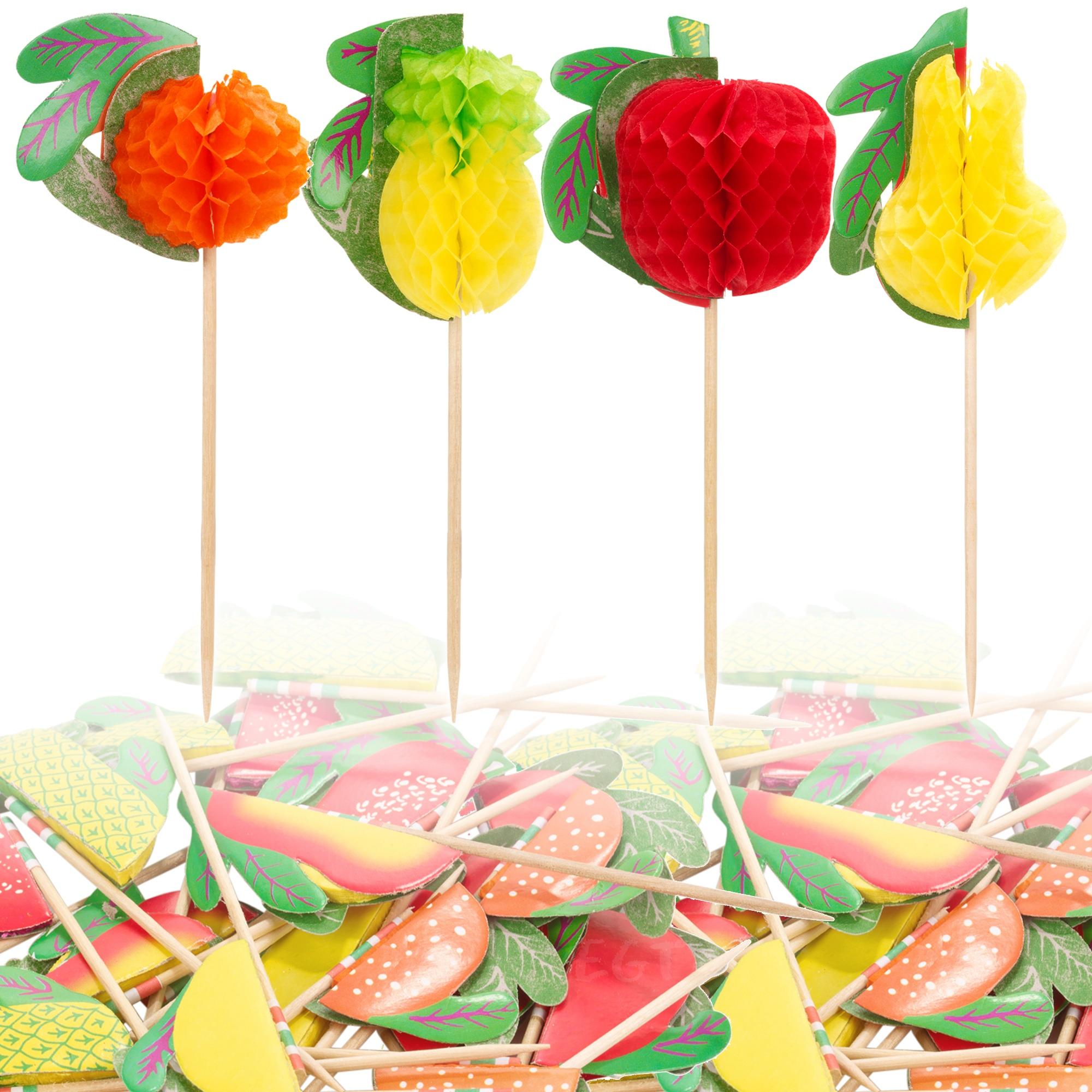 B 226 Tonnets De Papier Fruits Piques Boissons Snack