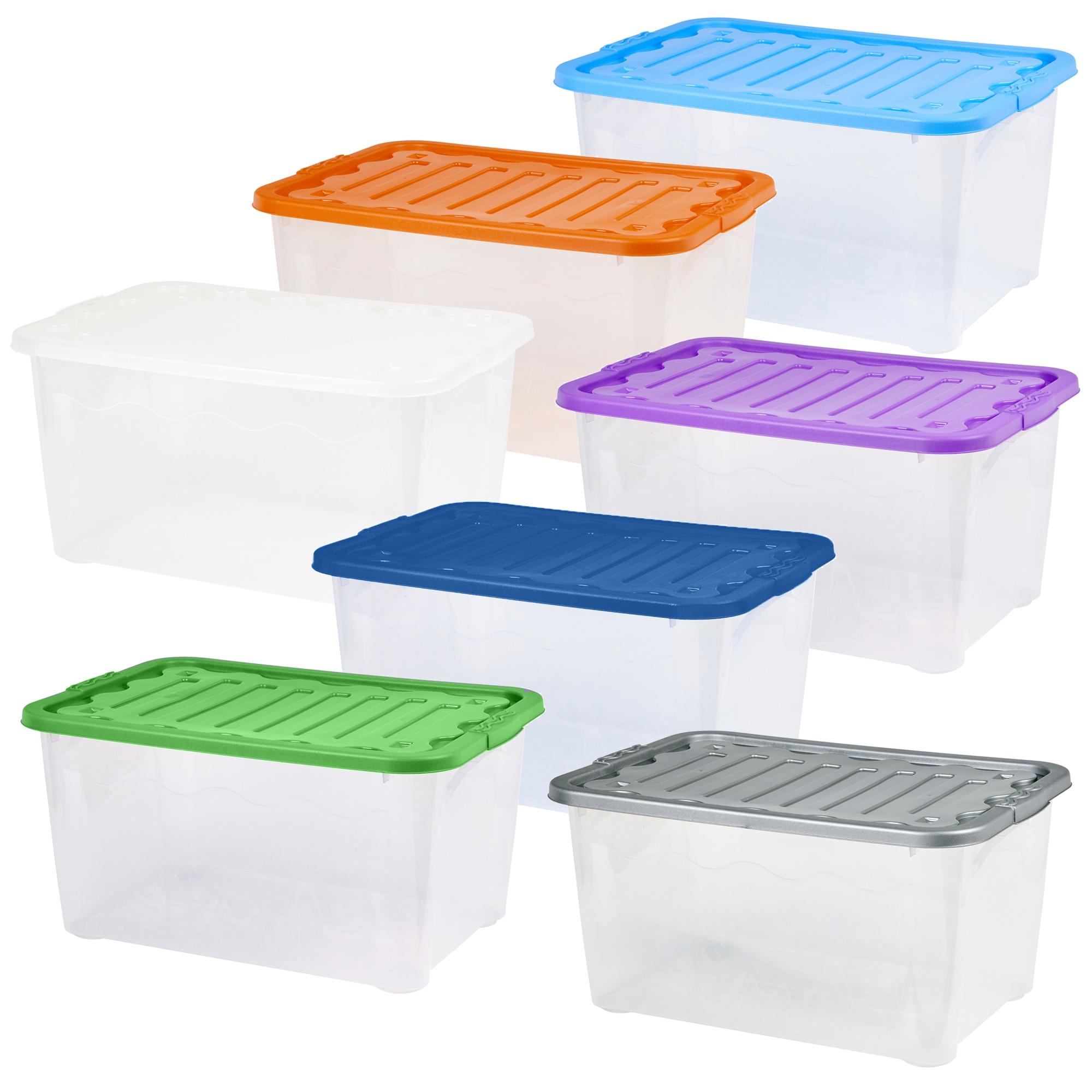 2er Set Plastik 51 Liter Aufbewahrungsboxen Gro 223 Beh 228 Lter