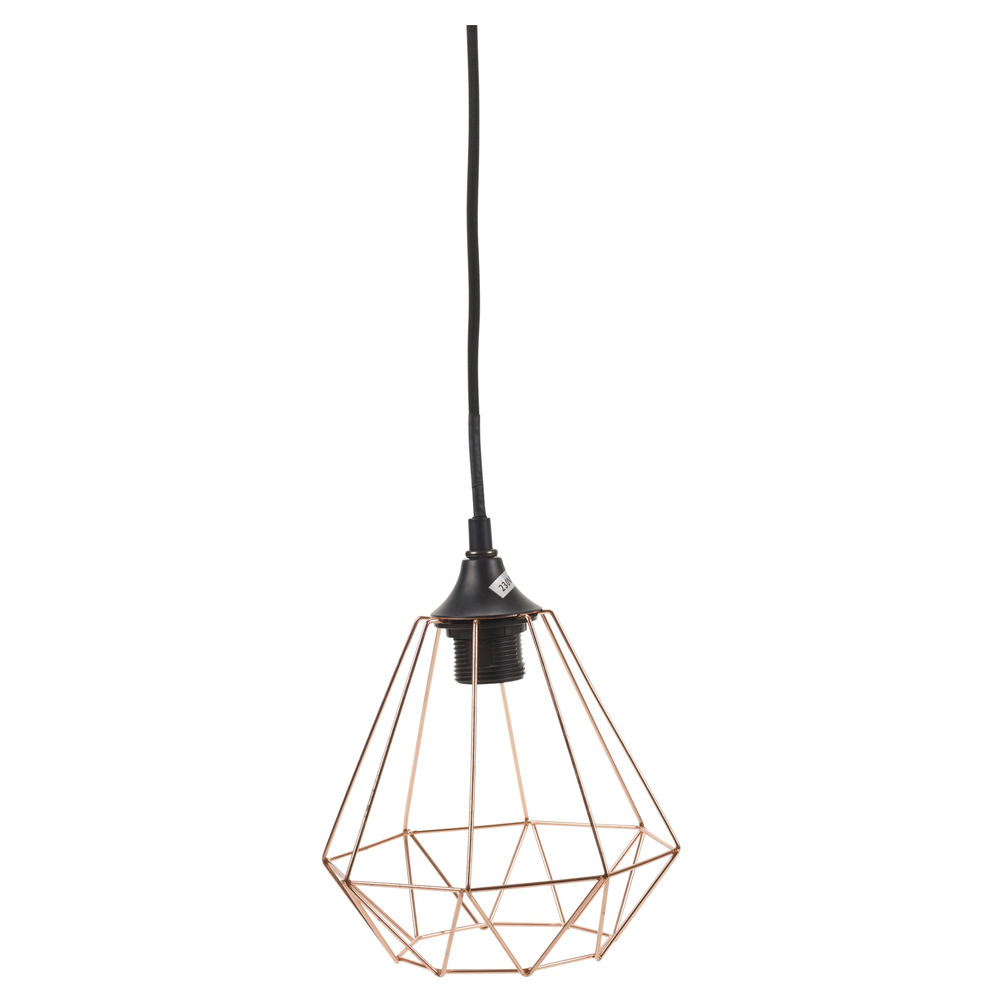 Modern Copper Geometric Metal Wire Hanging Ceiling Light