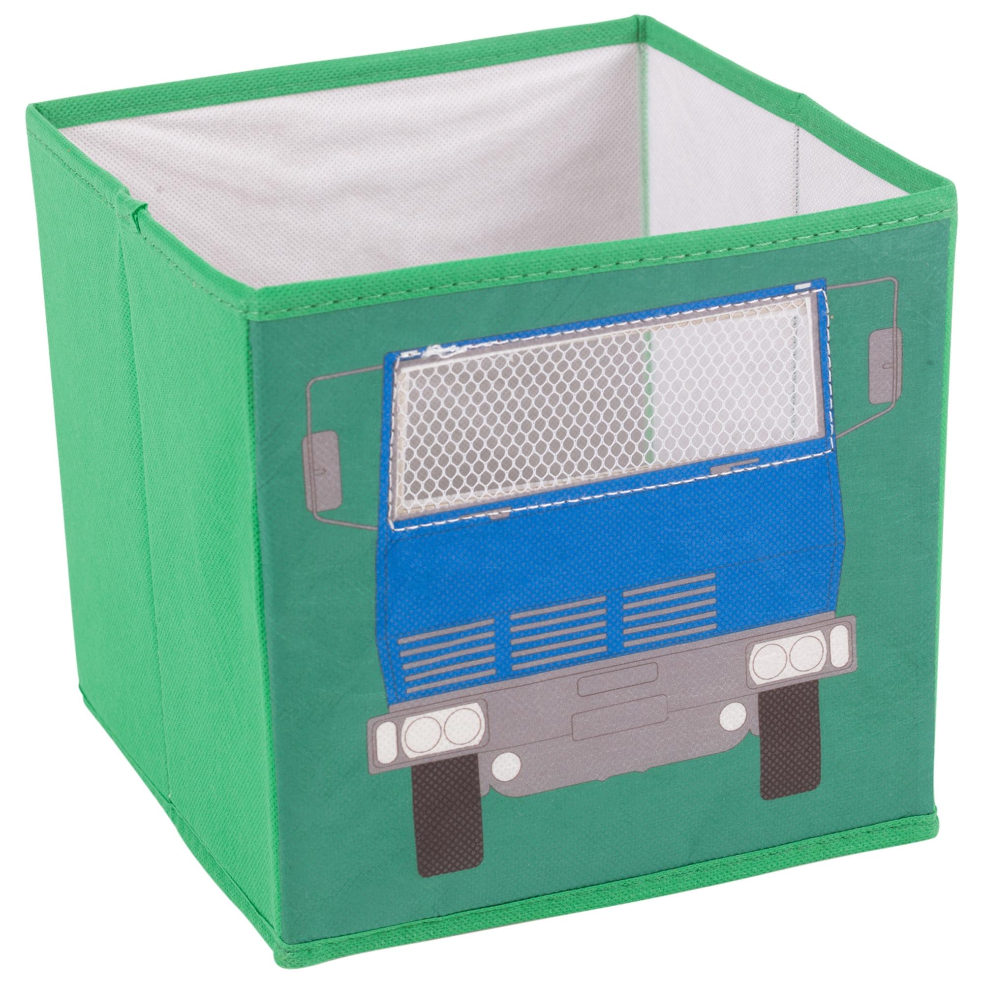 4x enfants jolie conception jouet boite de rangement non tiss tissu pliable ebay. Black Bedroom Furniture Sets. Home Design Ideas