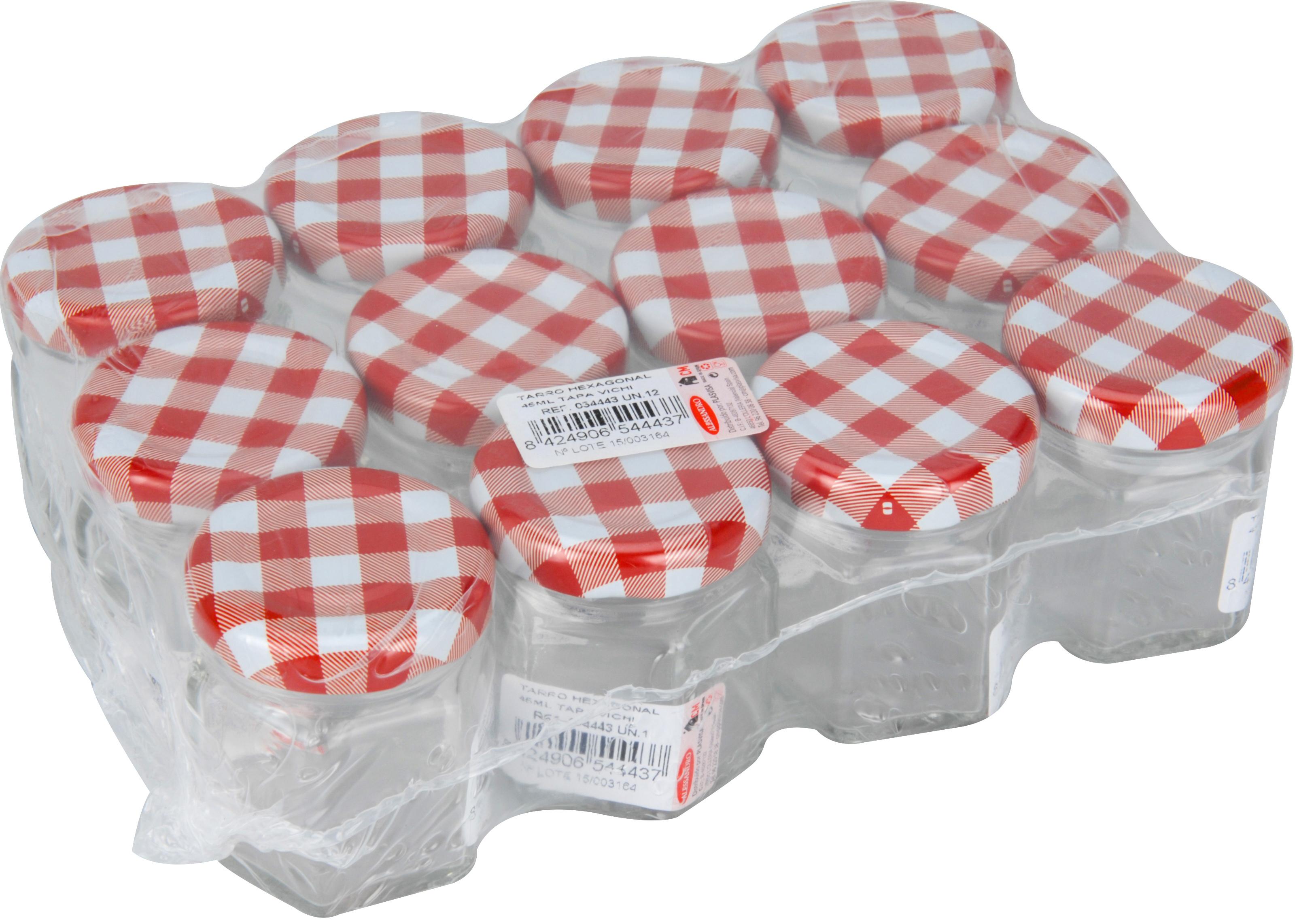Glass Jam Honey Pickle Food Preserve Chutney Jars Metal Cap Lids ...