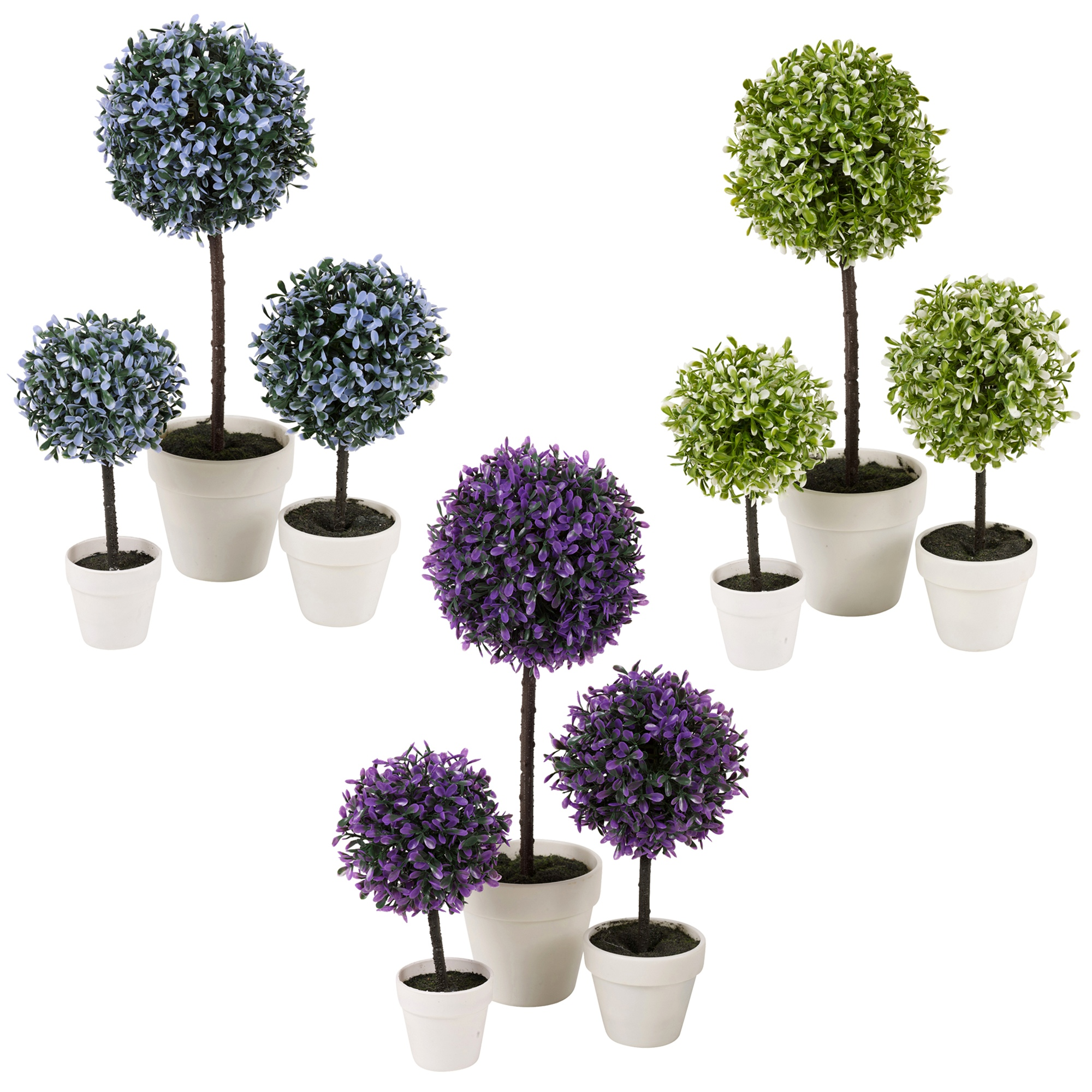 Decorative Artificial Outdoor Ball Plant Tree Pot Colour