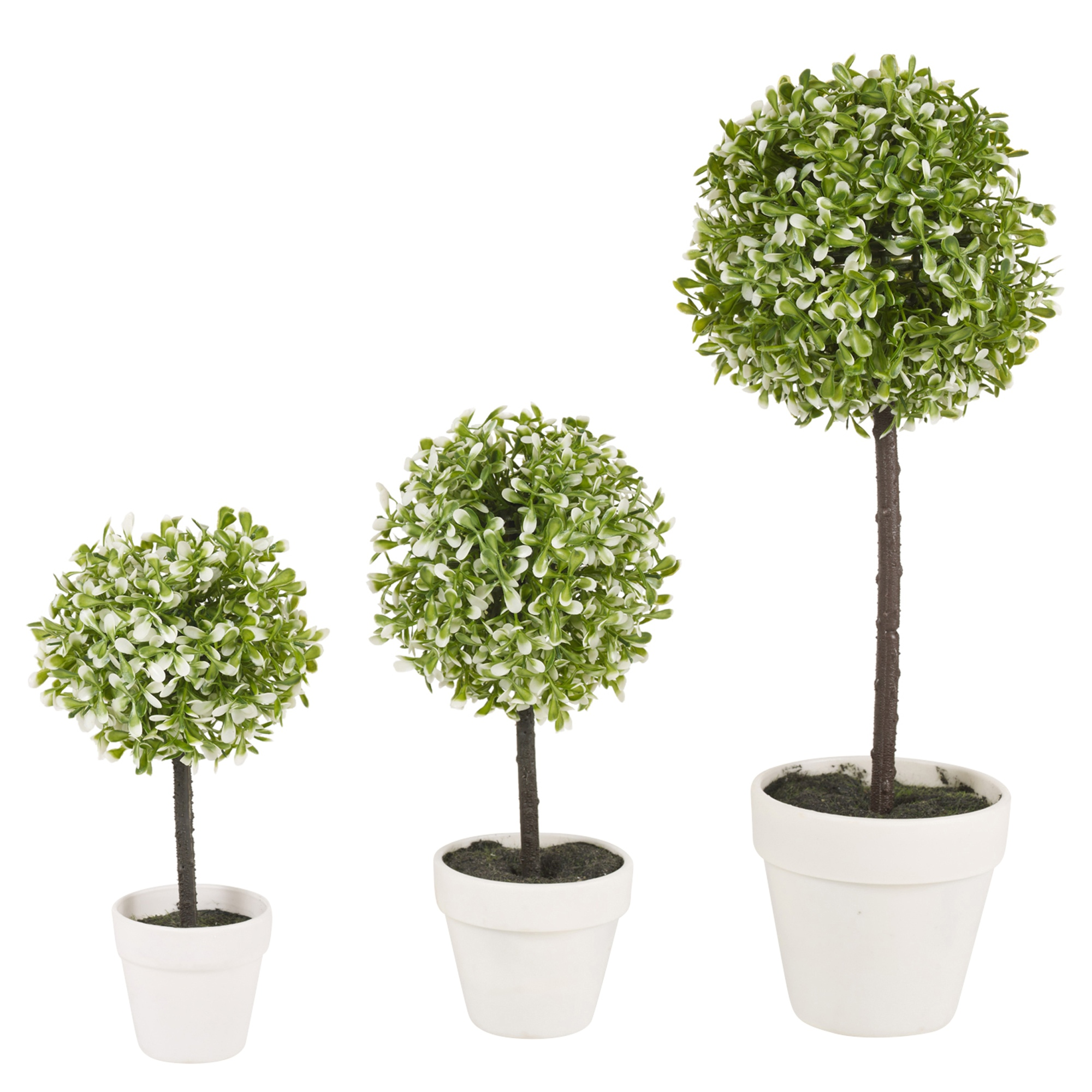 decorative artificial outdoor ball plant tree pot colour small