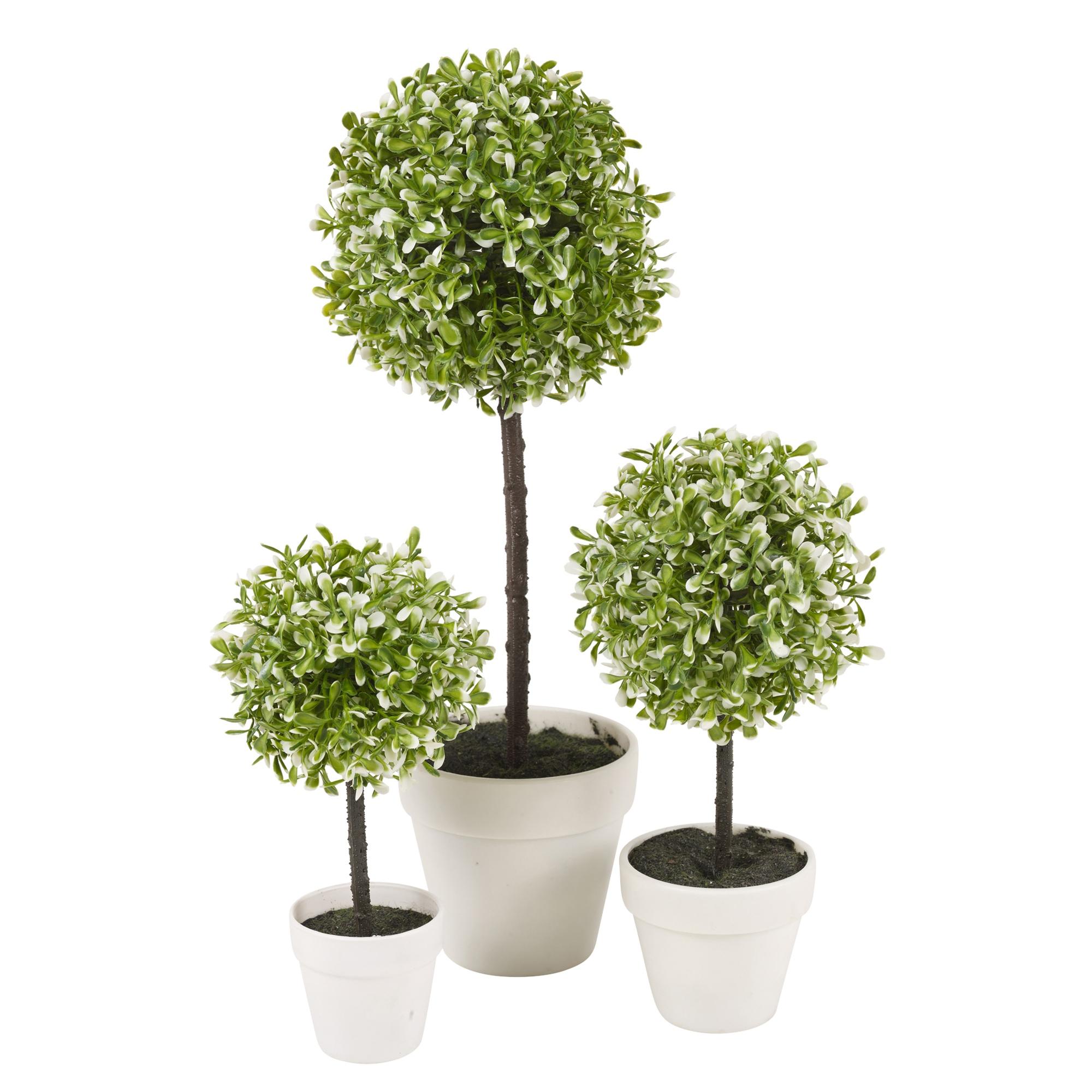 Decorative artificial outdoor ball plant tree pot colour for Outdoor decorative plants
