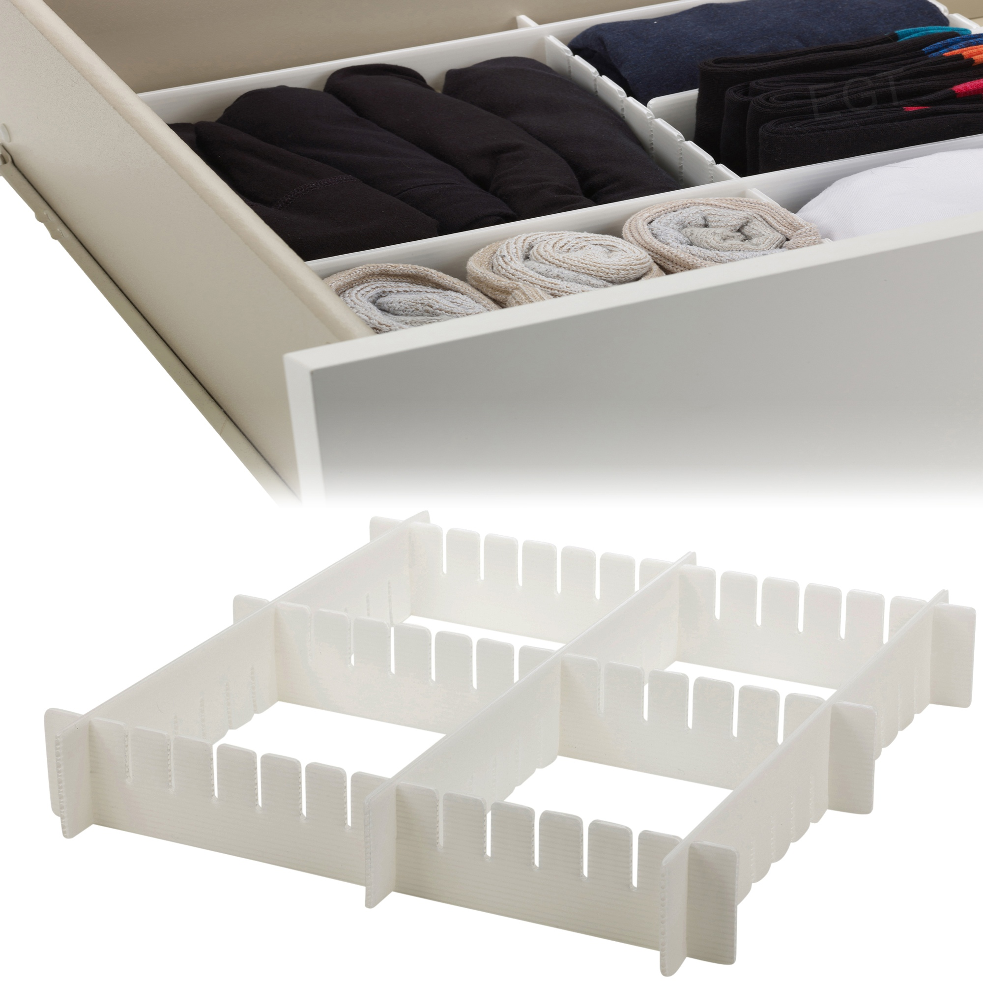 drawer organizer many compartments storage kitchen bedroom strong