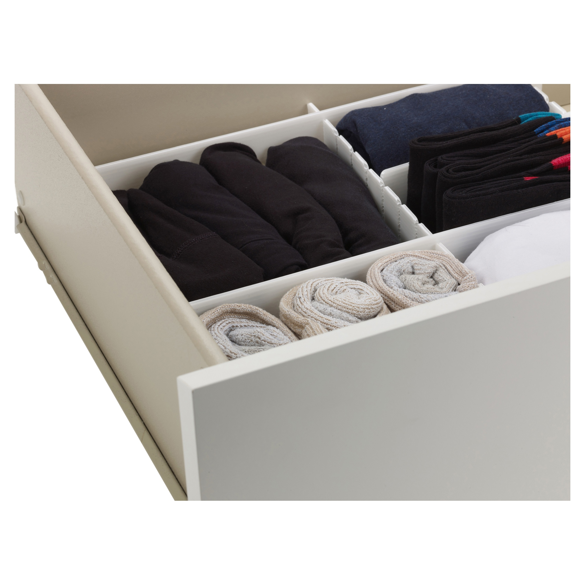 ... Bedroom Drawer Organizers By 6pc Adjustable Drawer Organizer Many  Compartments Storage ...