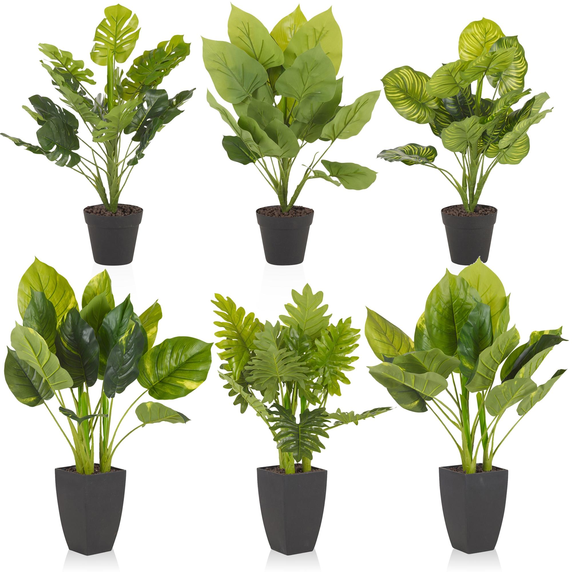 realistic look green decorative artificial home garden outdoor plant tree pot ebay. Black Bedroom Furniture Sets. Home Design Ideas