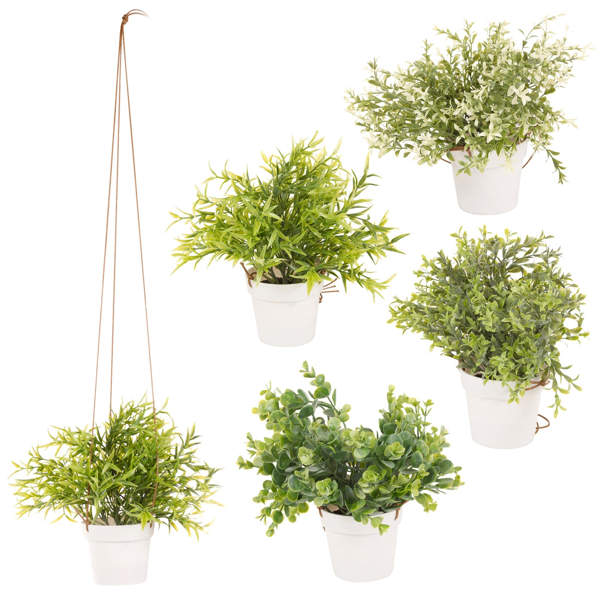 Artificial Hanging Plant Pot Basket Indoor Outdoor Garden