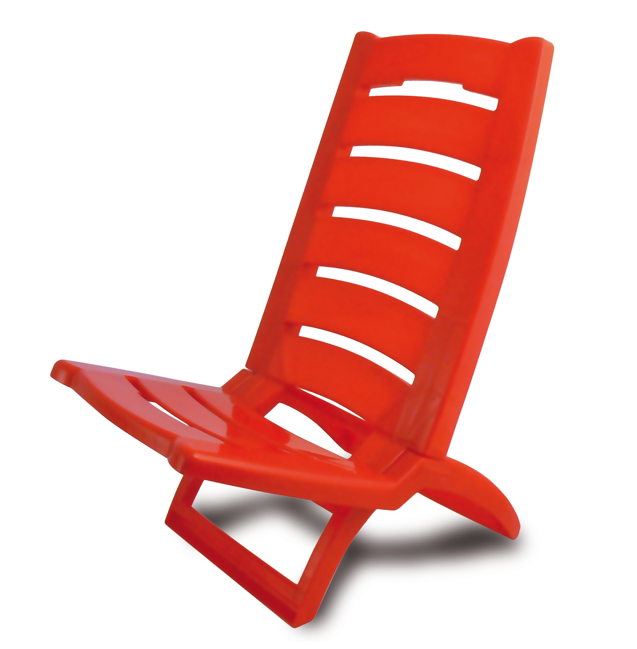 Plastic portable folding low beach chairs coloured garden for Plastic easy chair