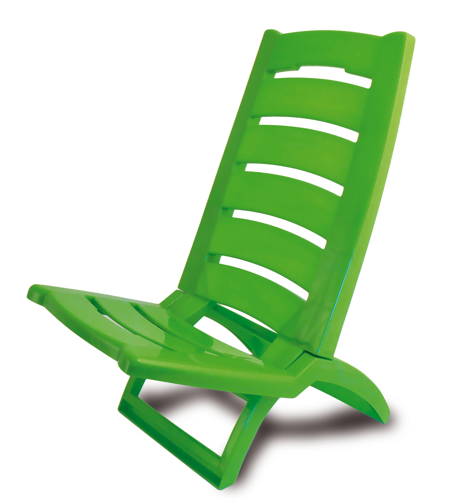 Plastic Portable Folding Low Beach Chairs Coloured Garden Picnic
