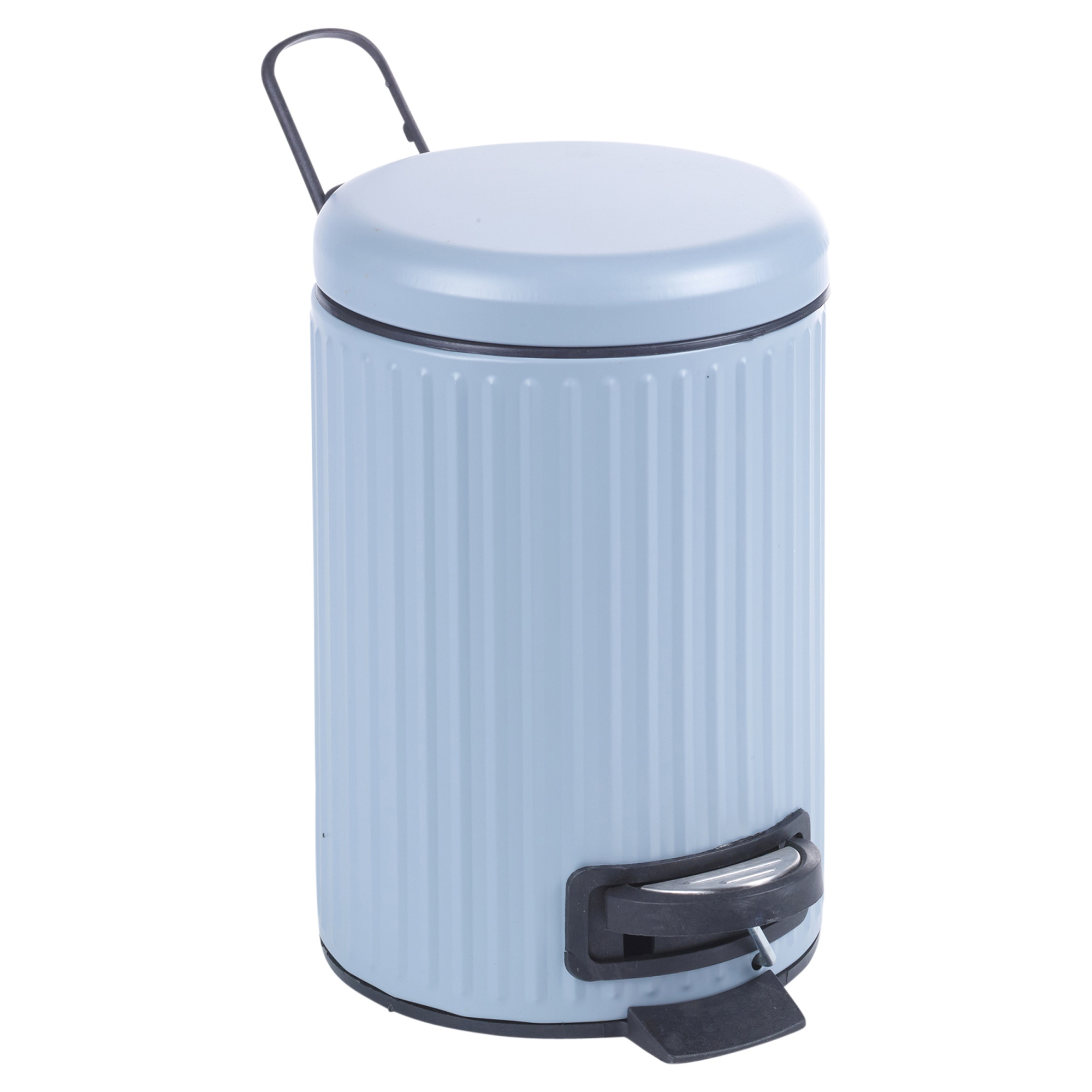 Matching 3 Litre Pedal Bin & Toilet Brush Pedal Operated Waste ...