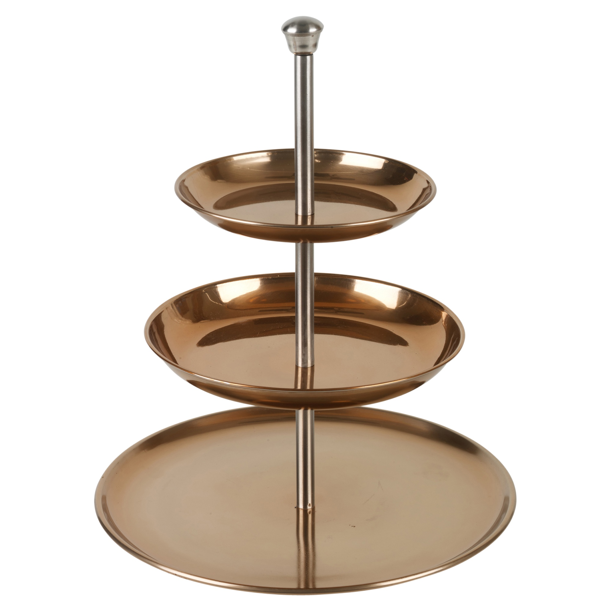 3 tier copper cake display serving stand table platter for Canape display stands