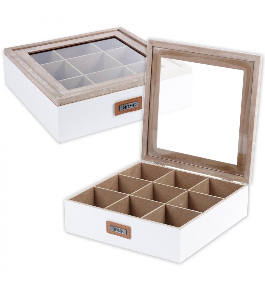 Tea Box 9 Compartments